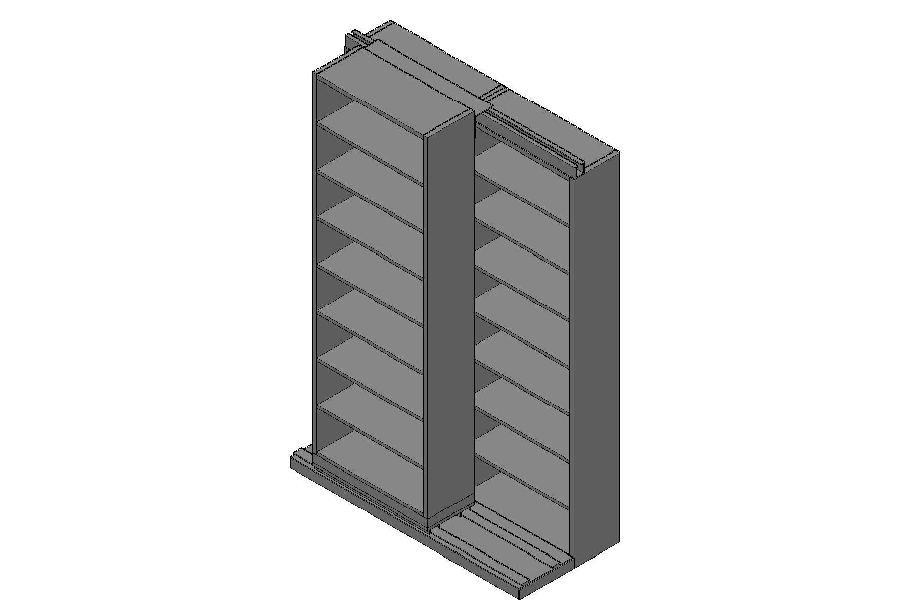 "Letter Size Sliding Shelves - 2 Rows Deep - 8 Levels - (30"" x 12"" Shelves) - 64"" Total Width"