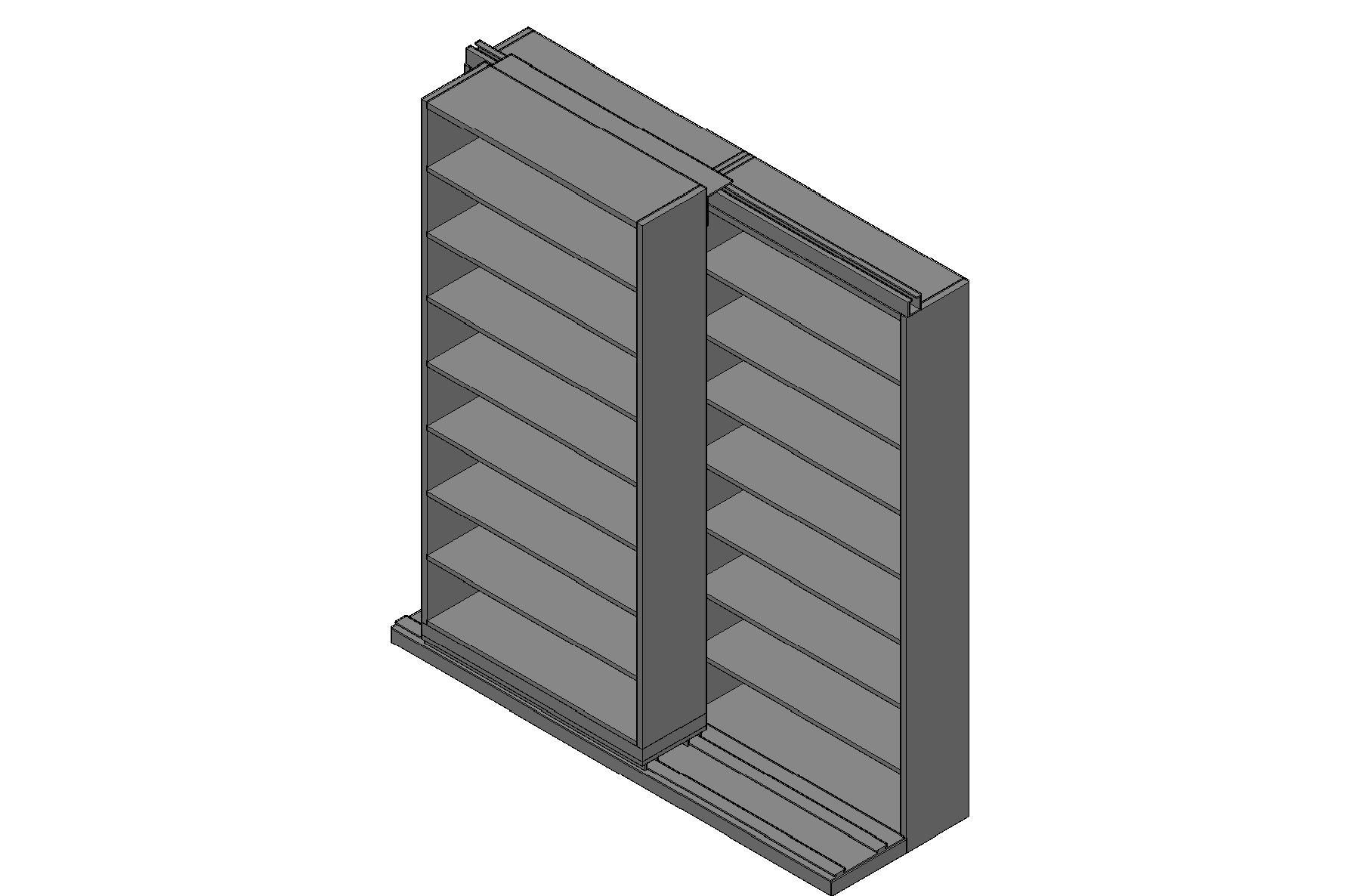 "Letter Size Sliding Shelves - 2 Rows Deep - 8 Levels - (42"" x 12"" Shelves) - 88"" Total Width"