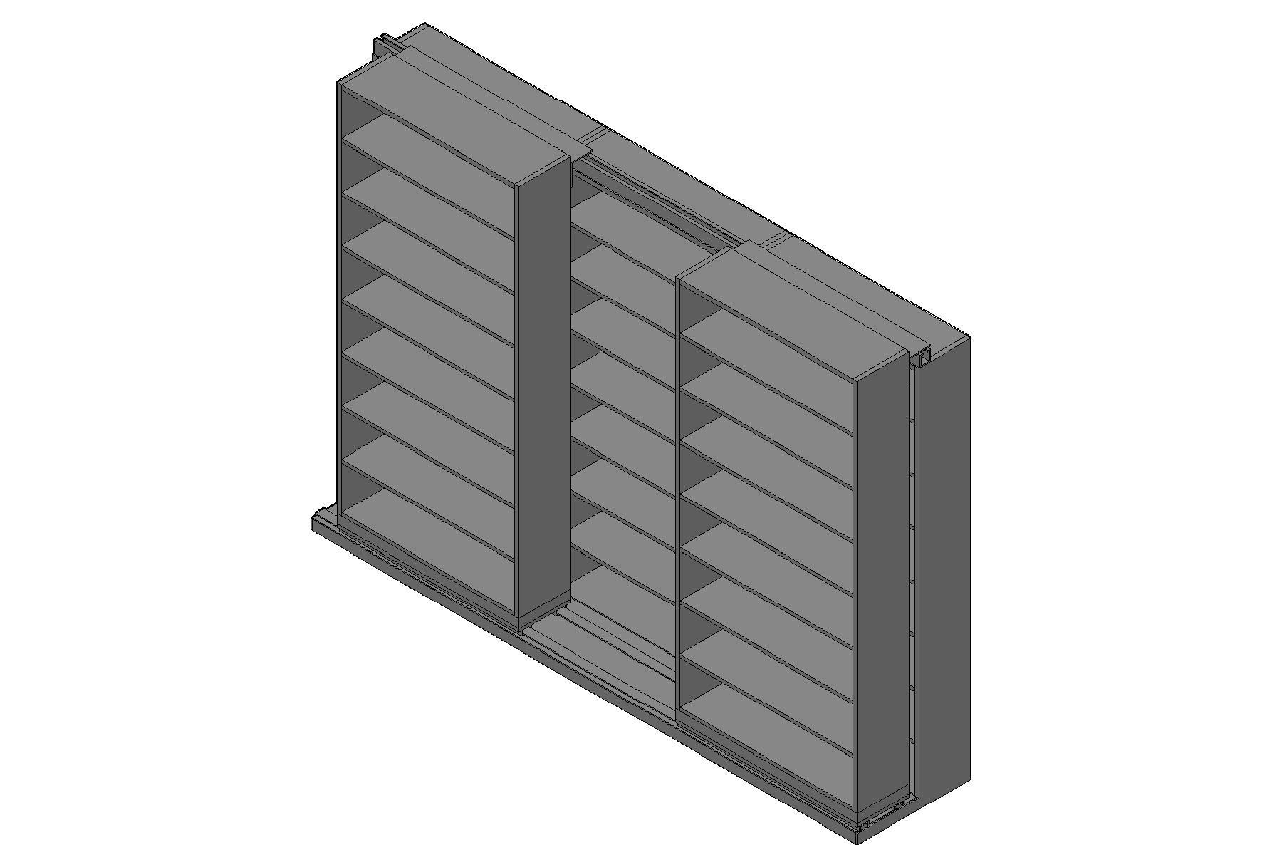 "Letter Size Sliding Shelves - 2 Rows Deep - 8 Levels - (42"" x 12"" Shelves) - 130"" Total Width"