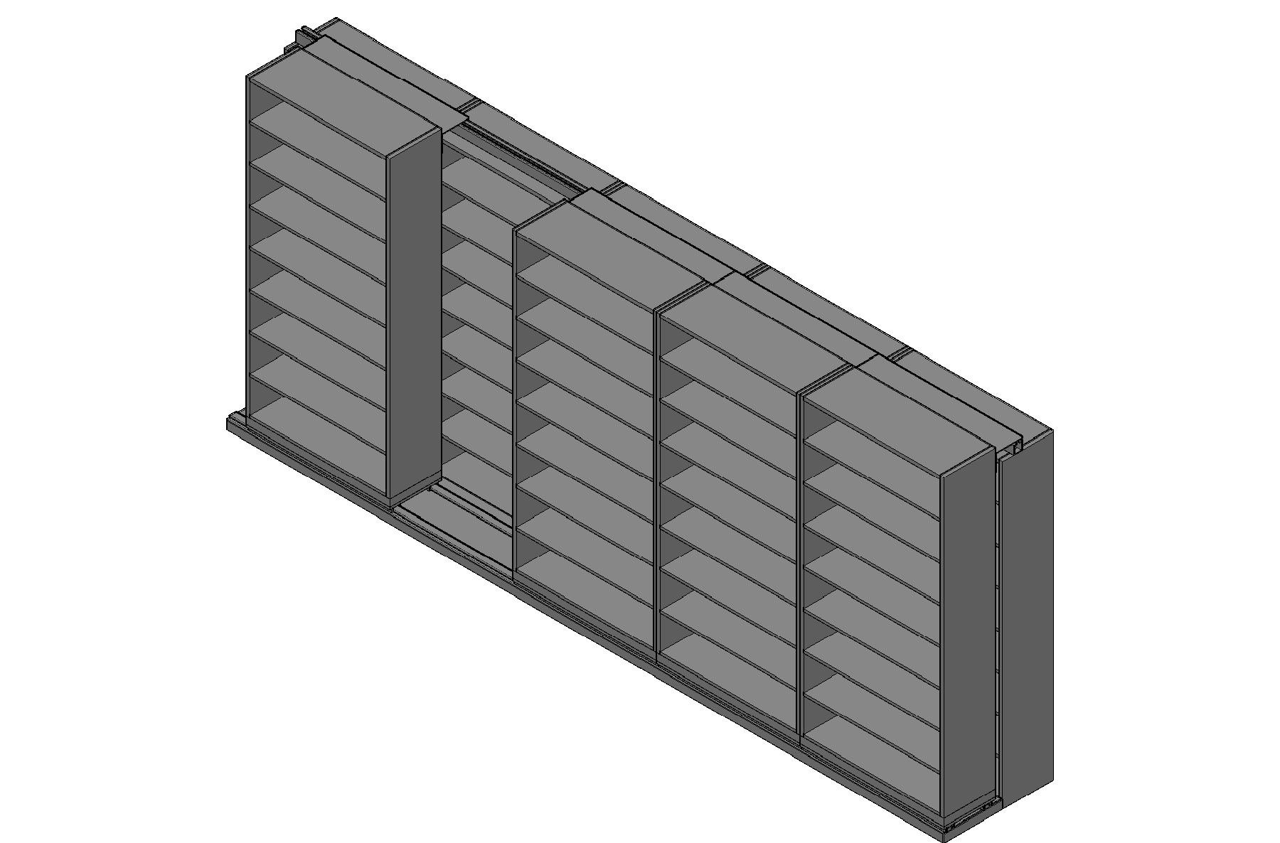 "Legal Size Sliding Shelves - 2 Rows Deep - 8 Levels - (42"" x 15"" Shelves) - 214"" Total Width"