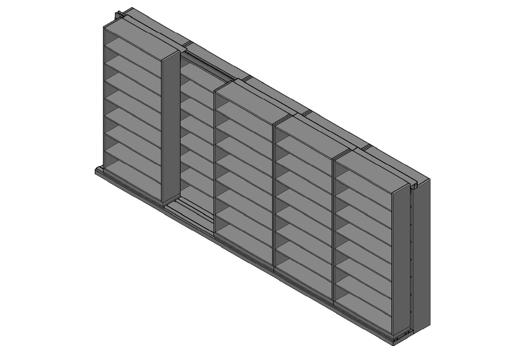 "Letter Size Sliding Shelves - 2 Rows Deep - 8 Levels - (42"" x 12"" Shelves) - 214"" Total Width"
