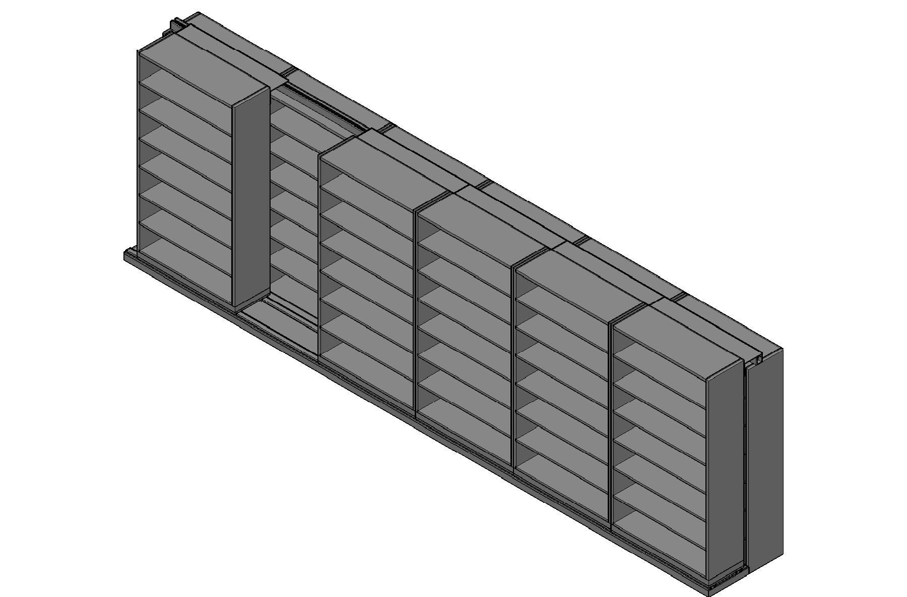 "Legal Size Sliding Shelves - 2 Rows Deep - 7 Levels - (42"" x 15"" Shelves) - 256"" Total Width"