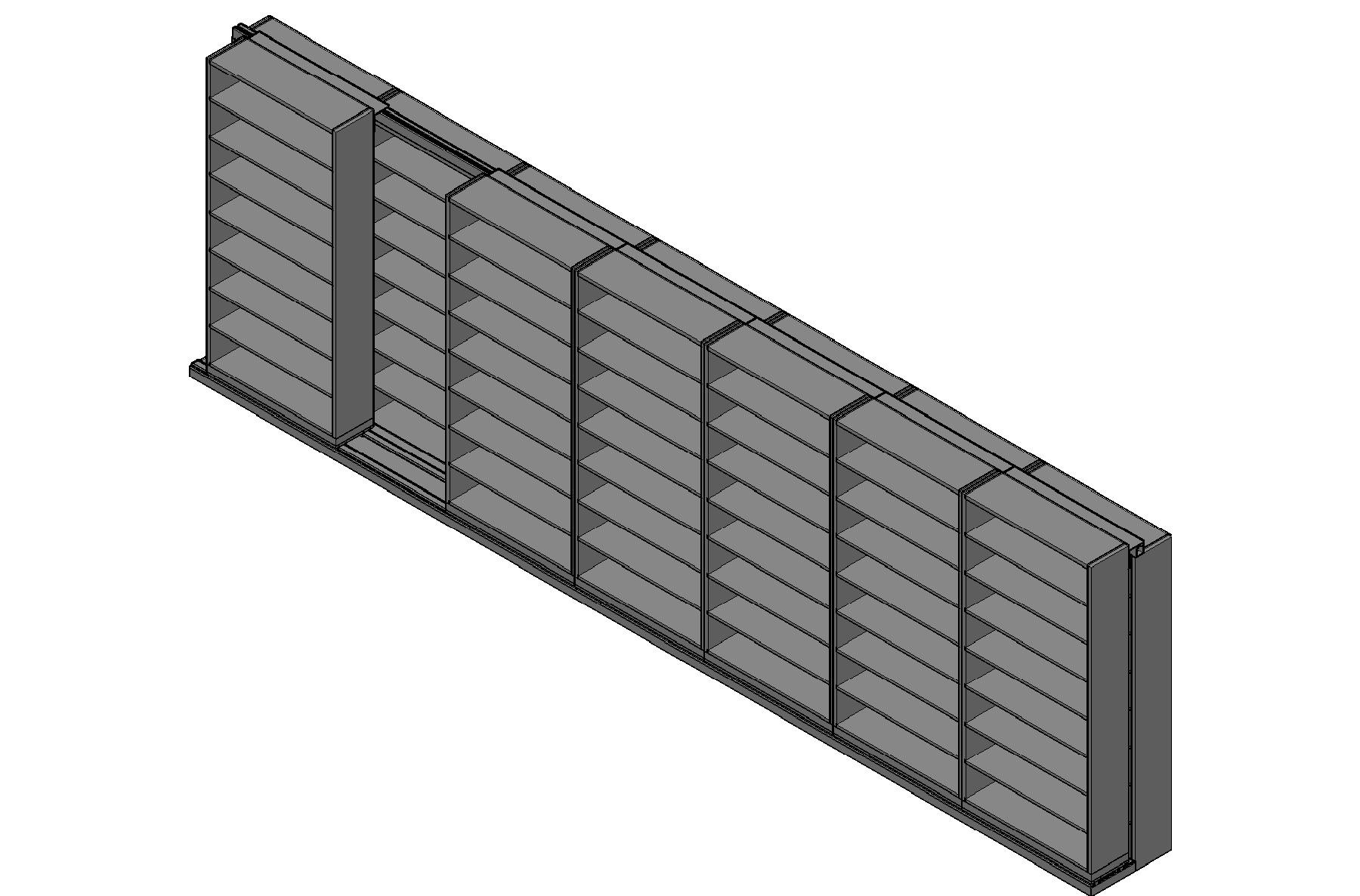 "Letter Size Sliding Shelves - 2 Rows Deep - 8 Levels - (42"" x 12"" Shelves) - 298"" Total Width"