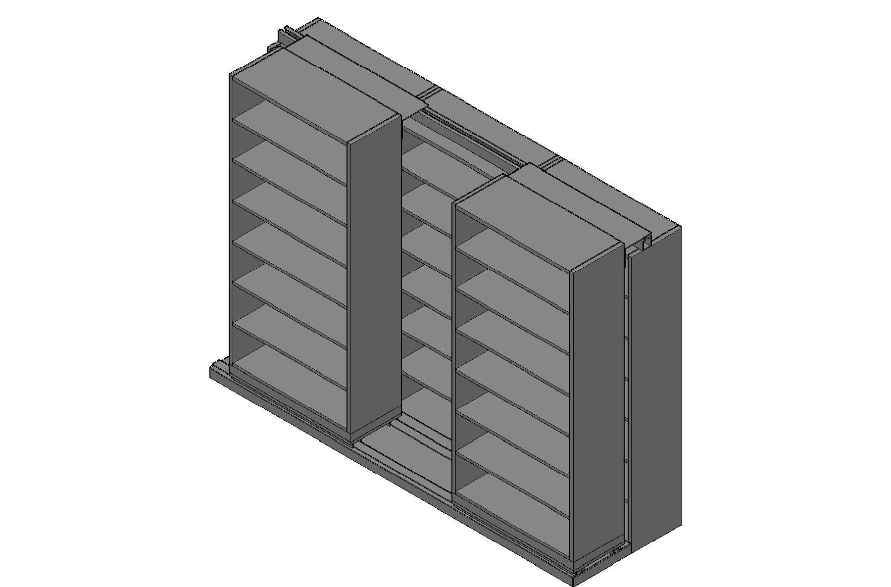"Legal Size Sliding Shelves - 2 Rows Deep - 7 Levels - (36"" x 15"" Shelves) - 112"" Total Width"