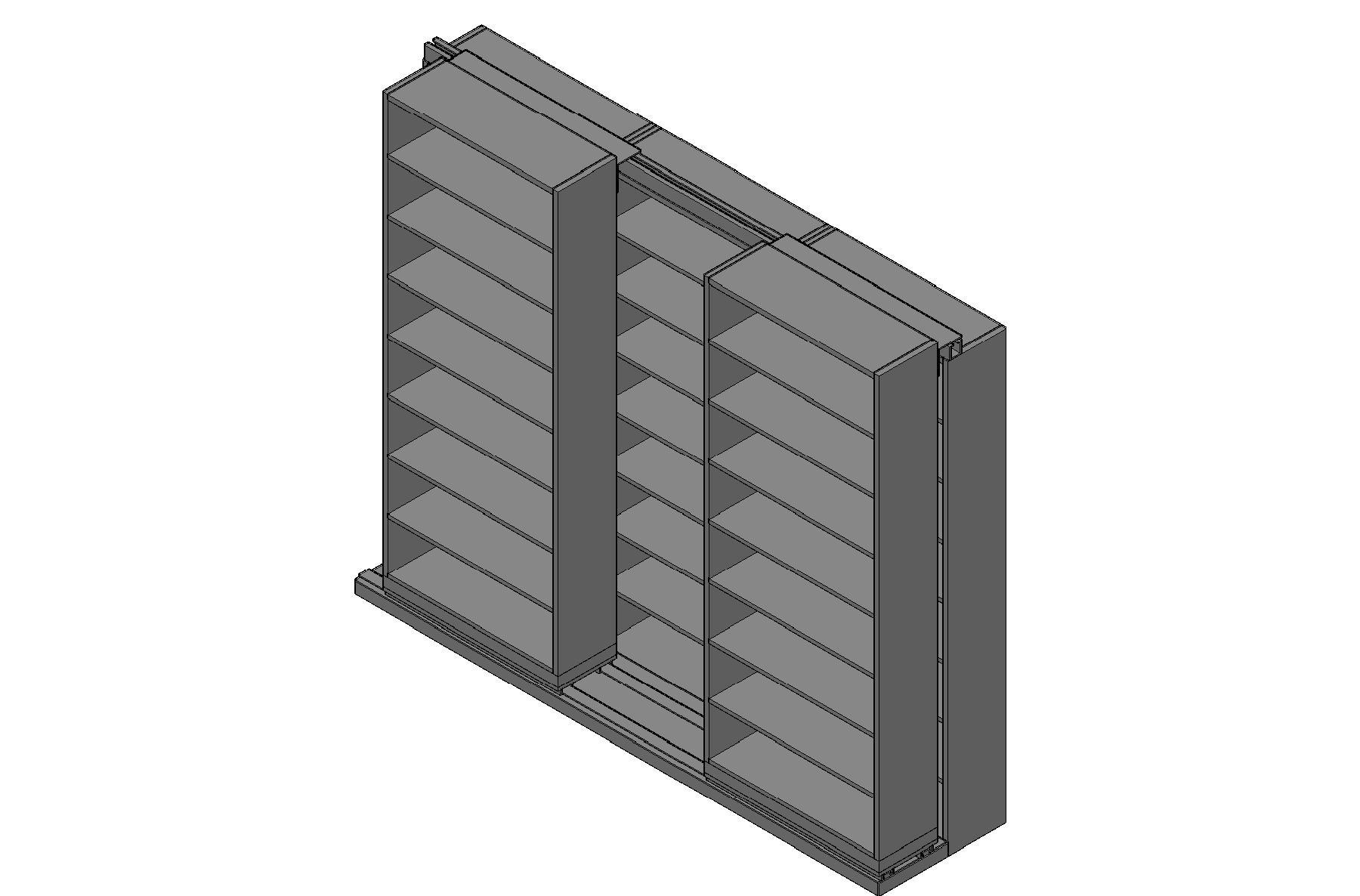 "Letter Size Sliding Shelves - 2 Rows Deep - 8 Levels - (36"" x 12"" Shelves) - 112"" Total Width"
