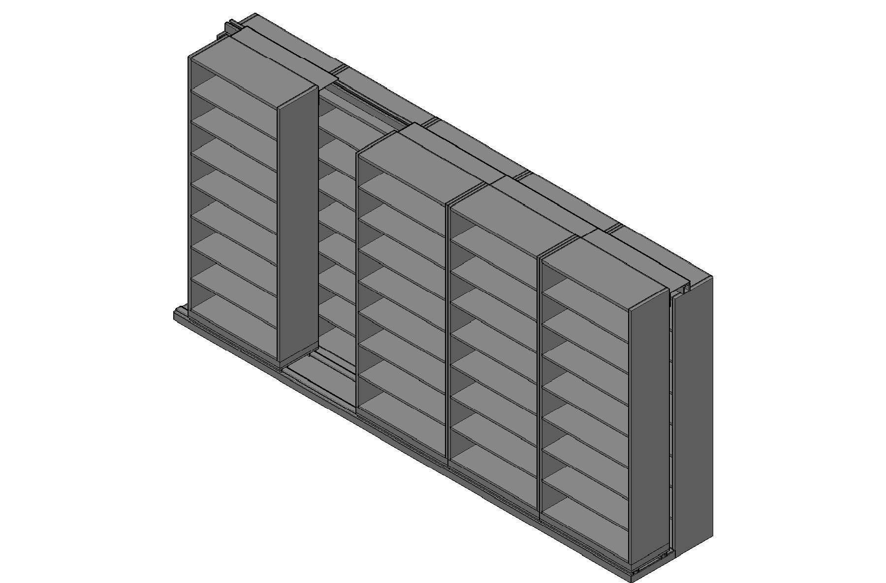 "Legal Size Sliding Shelves - 2 Rows Deep - 8 Levels - (36"" x 15"" Shelves) - 184"" Total Width"