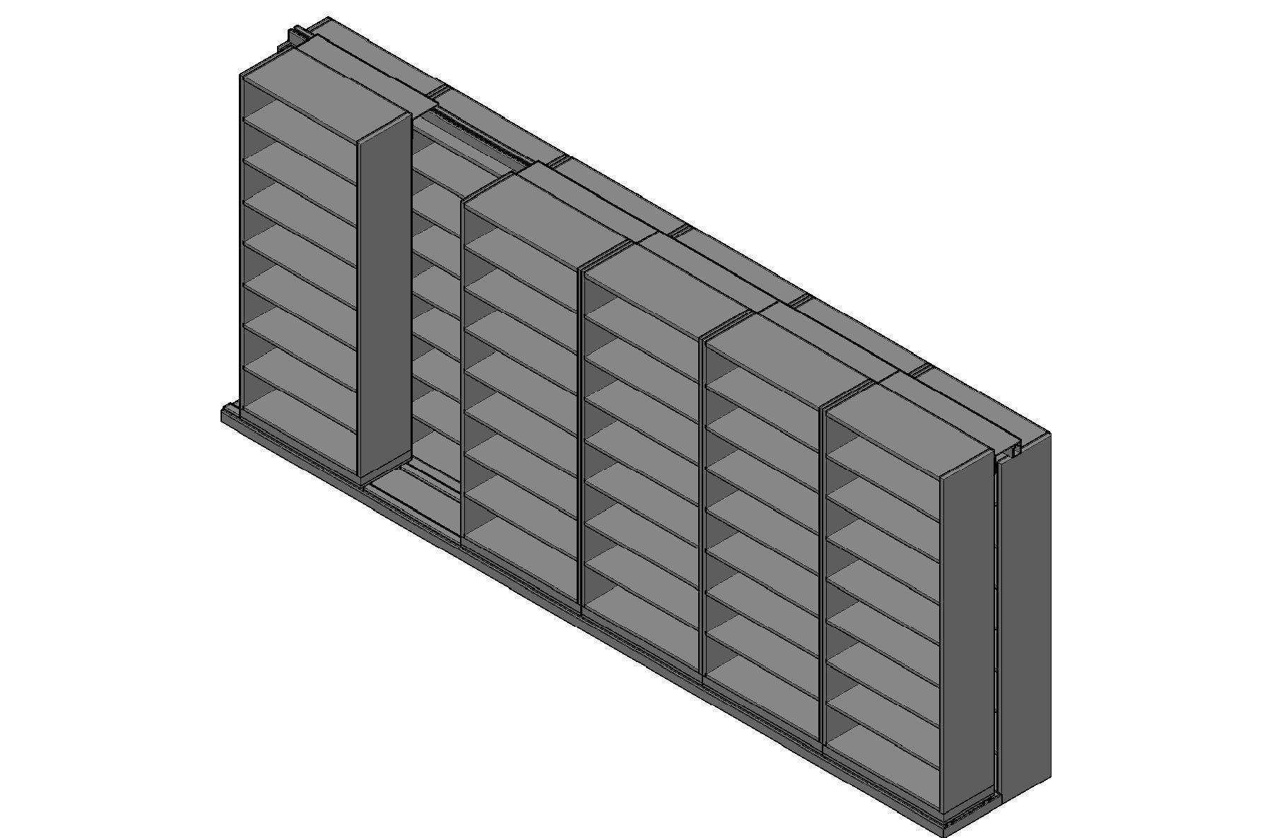 "Legal Size Sliding Shelves - 2 Rows Deep - 8 Levels - (36"" x 15"" Shelves) - 220"" Total Width"