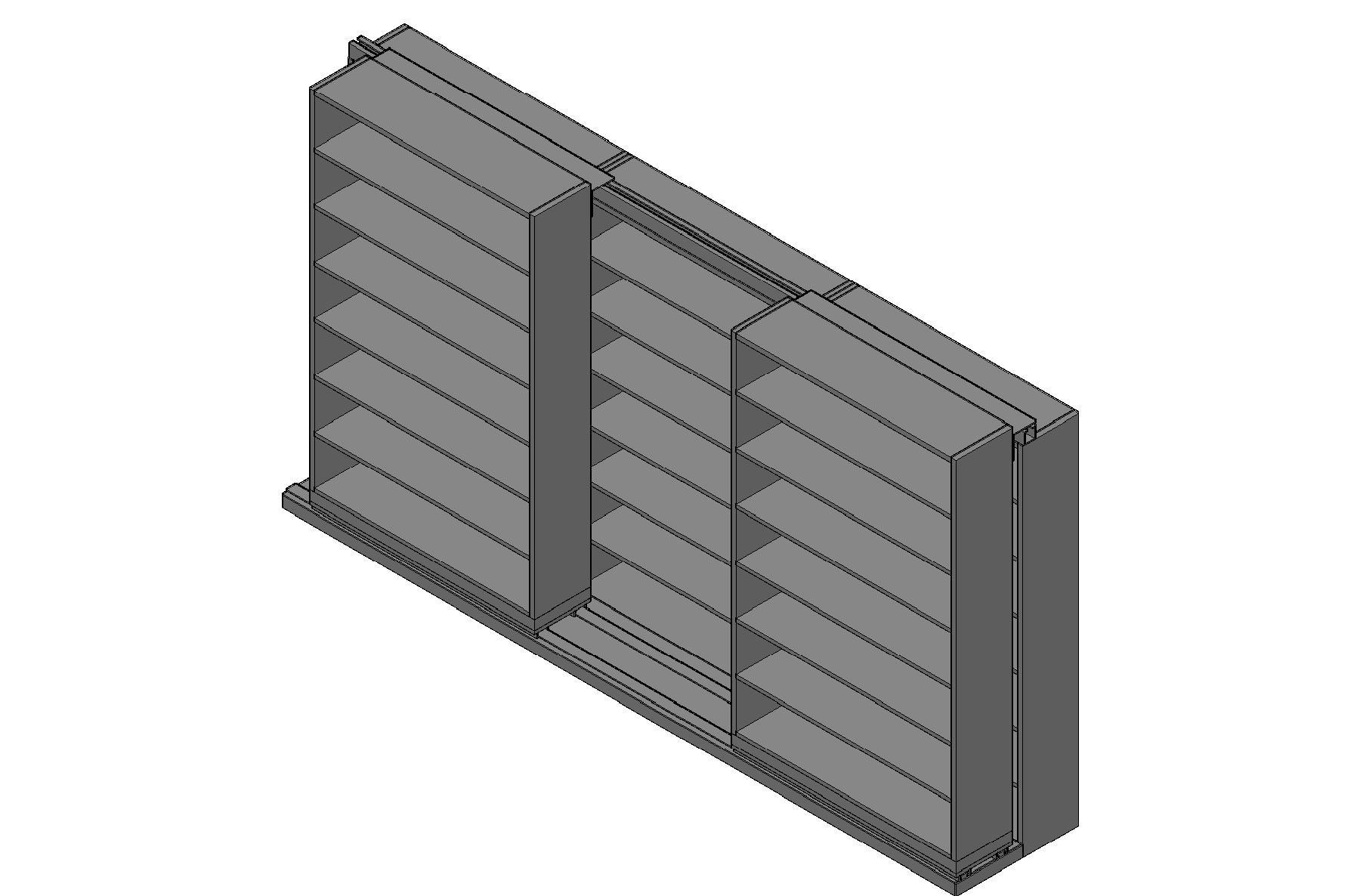 "Letter Size Sliding Shelves - 2 Rows Deep - 7 Levels - (48"" x 12"" Shelves) - 148"" Total Width"