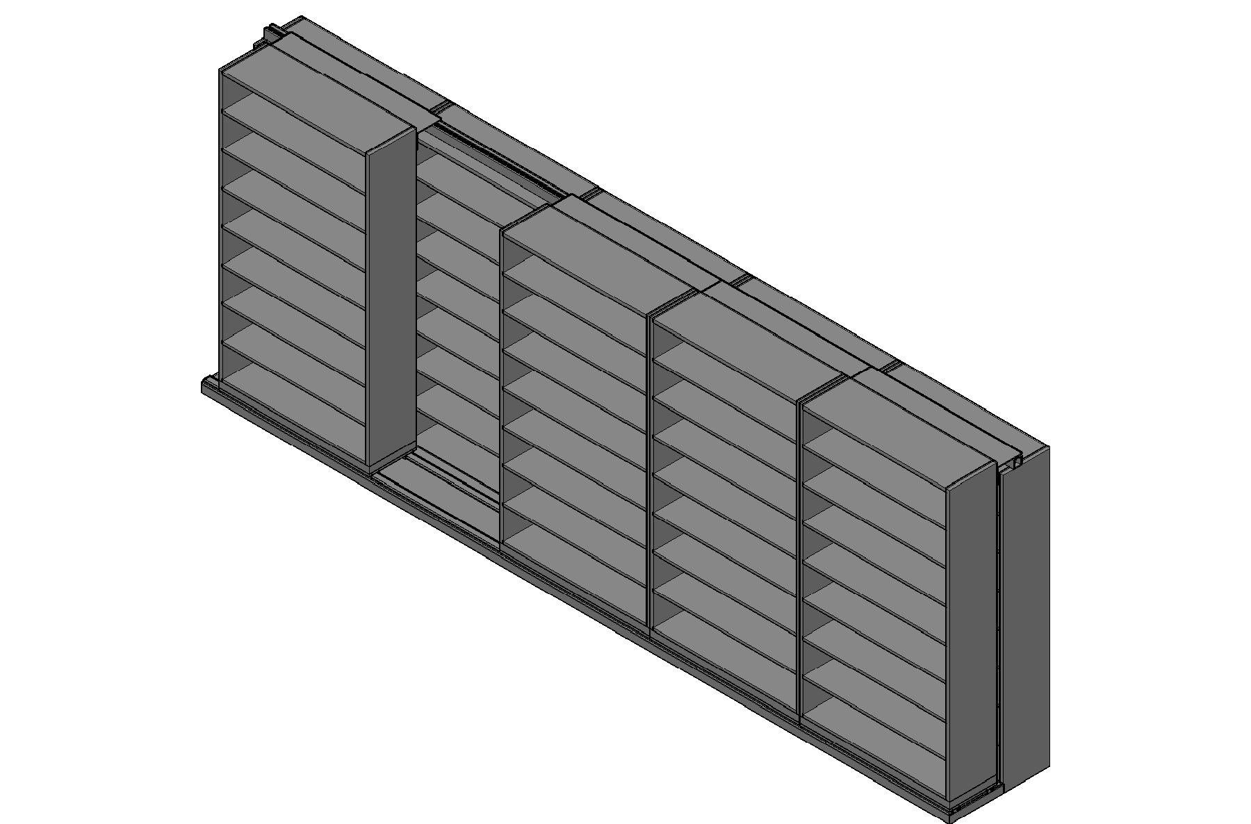 "Legal Size Sliding Shelves - 2 Rows Deep - 8 Levels - (48"" x 15"" Shelves) - 244"" Total Width"