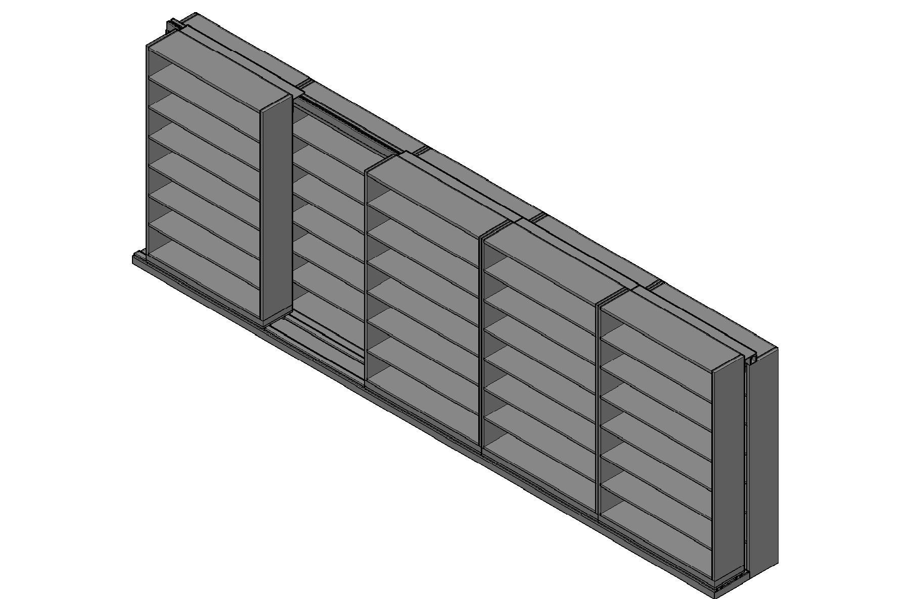 "Letter Size Sliding Shelves - 2 Rows Deep - 7 Levels - (48"" x 12"" Shelves) - 244"" Total Width"