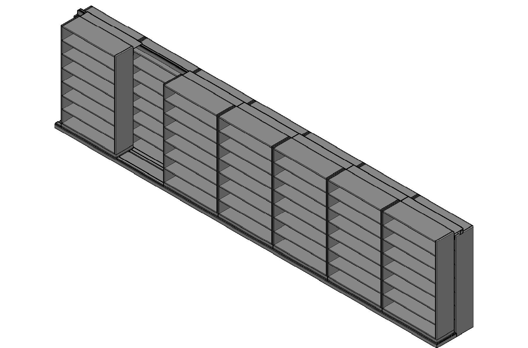 "Legal Size Sliding Shelves - 2 Rows Deep - 7 Levels - (48"" x 15"" Shelves) - 340"" Total Width"