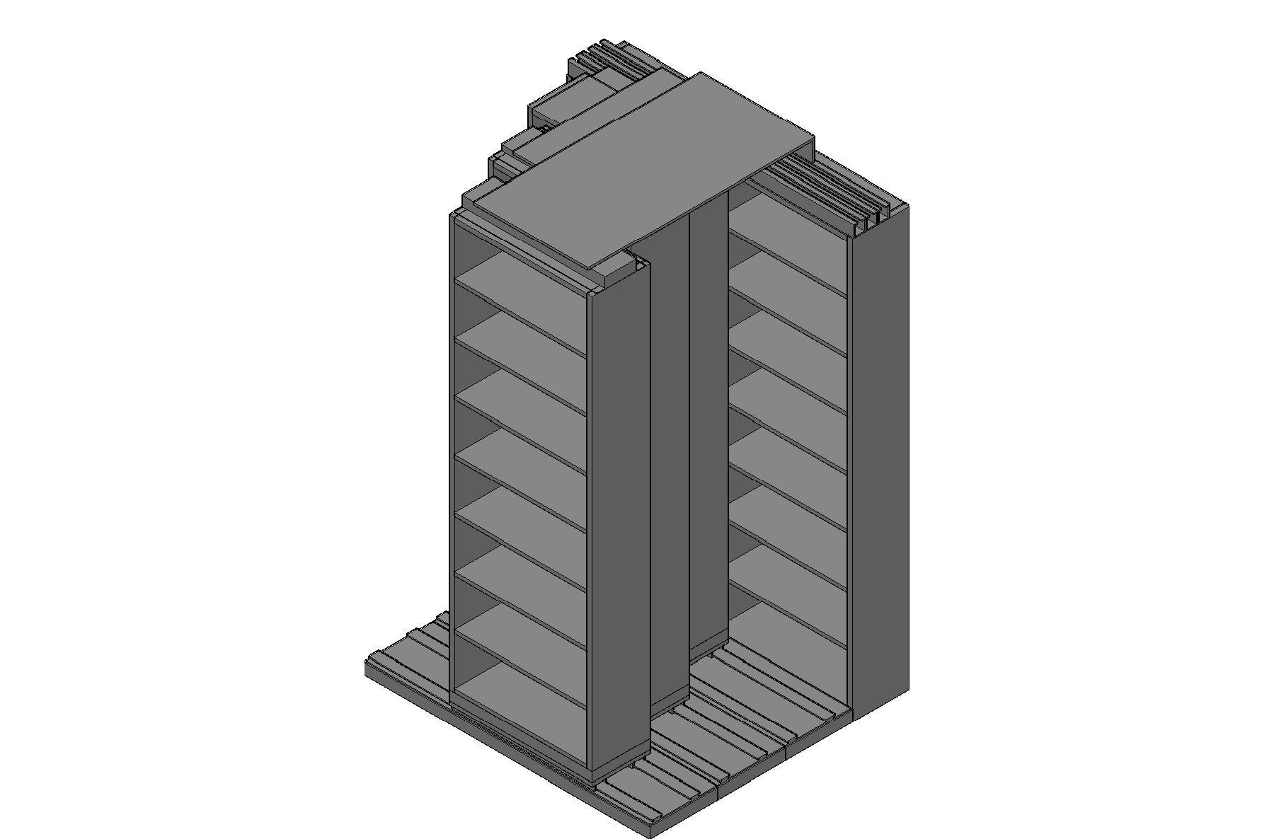 "Letter Size Sliding Shelves - 4 Rows Deep - 8 Levels - (30"" x 12"" Shelves) - 64"" Total Width"