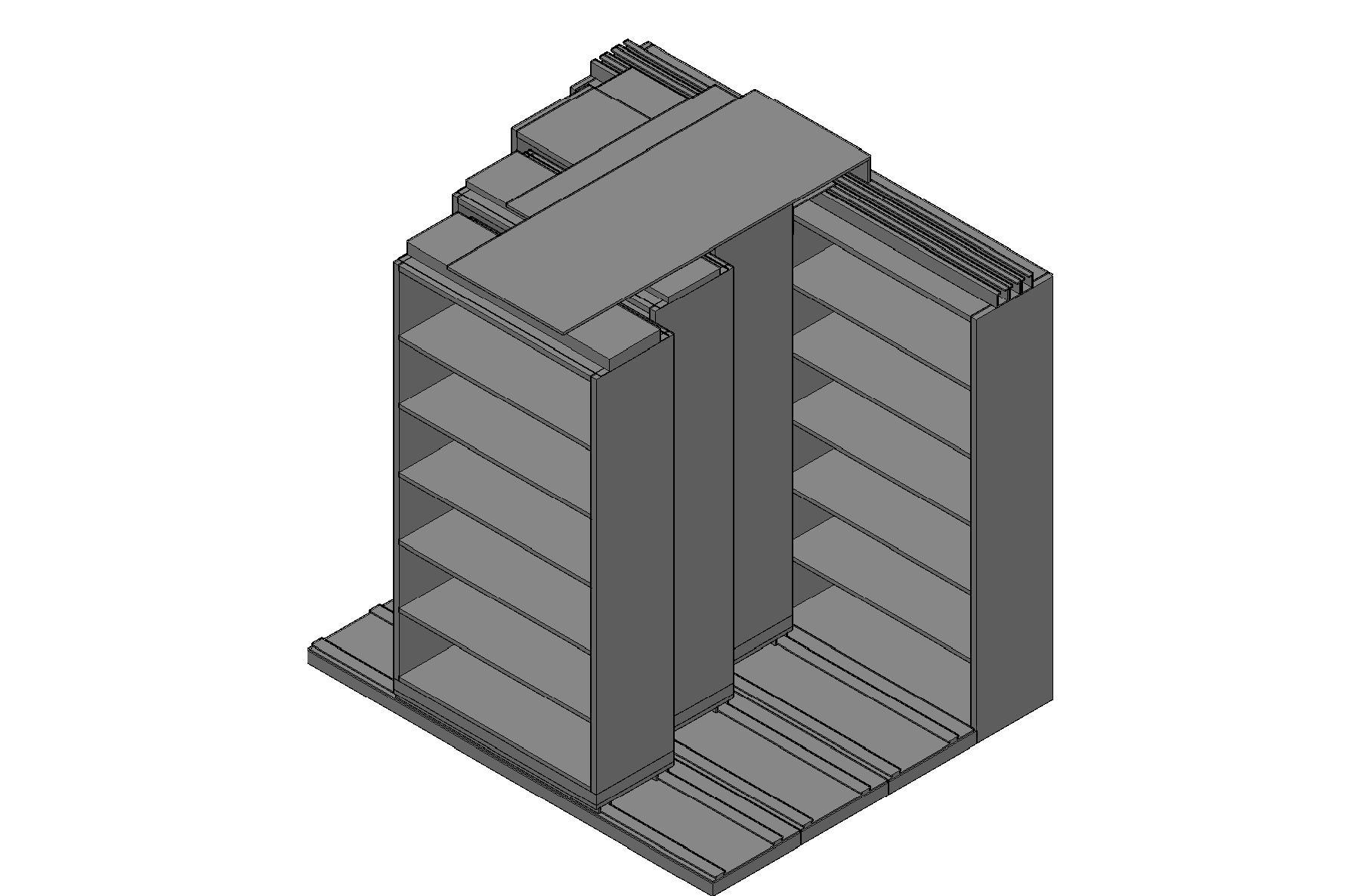 "Box Size Sliding Shelves - 4 Rows Deep - 6 Levels - (42"" x 16"" Shelves) - 88"" Total Width"