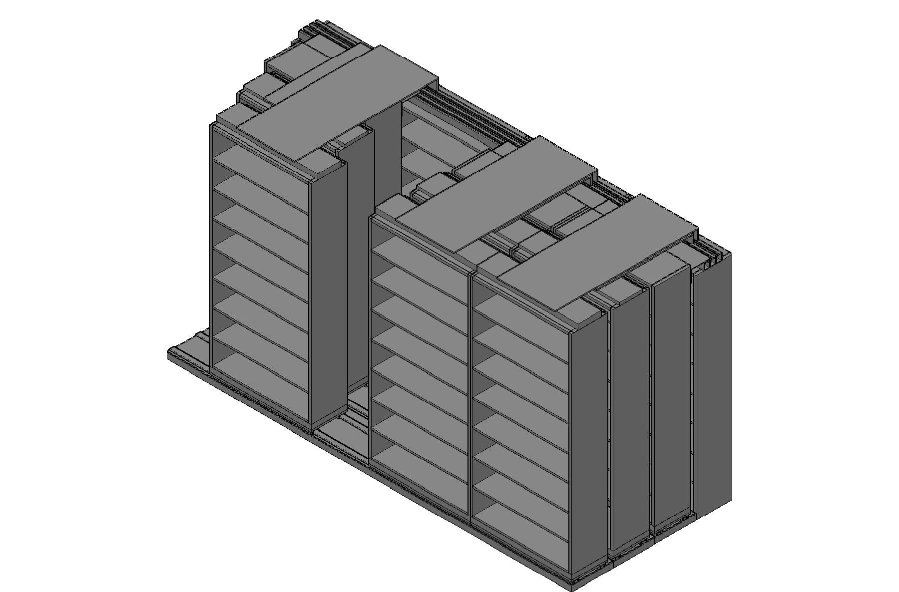 "Legal Size Sliding Shelves - 4 Rows Deep - 8 Levels - (42"" x 15"" Shelves) - 172"" Total Width"