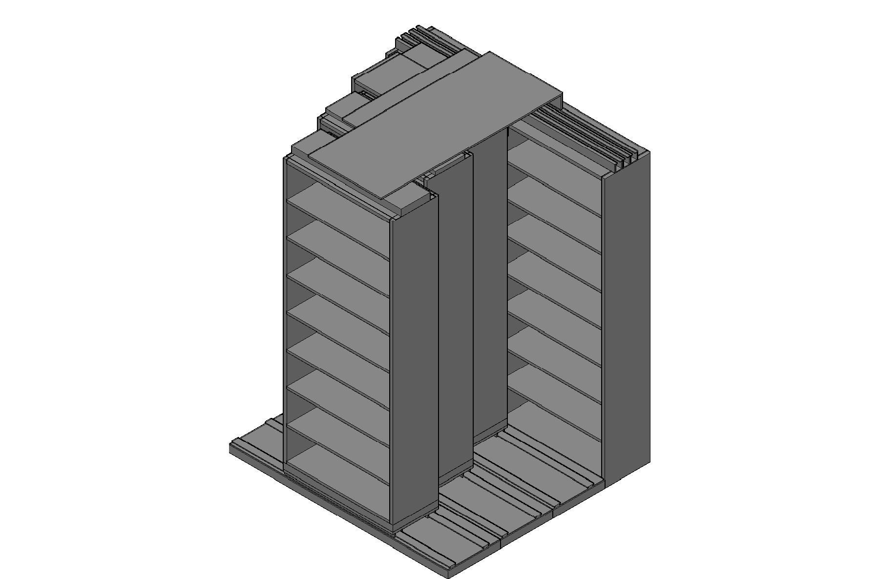 "Legal Size Sliding Shelves - 4 Rows Deep - 8 Levels - (36"" x 15"" Shelves) - 76"" Total Width"