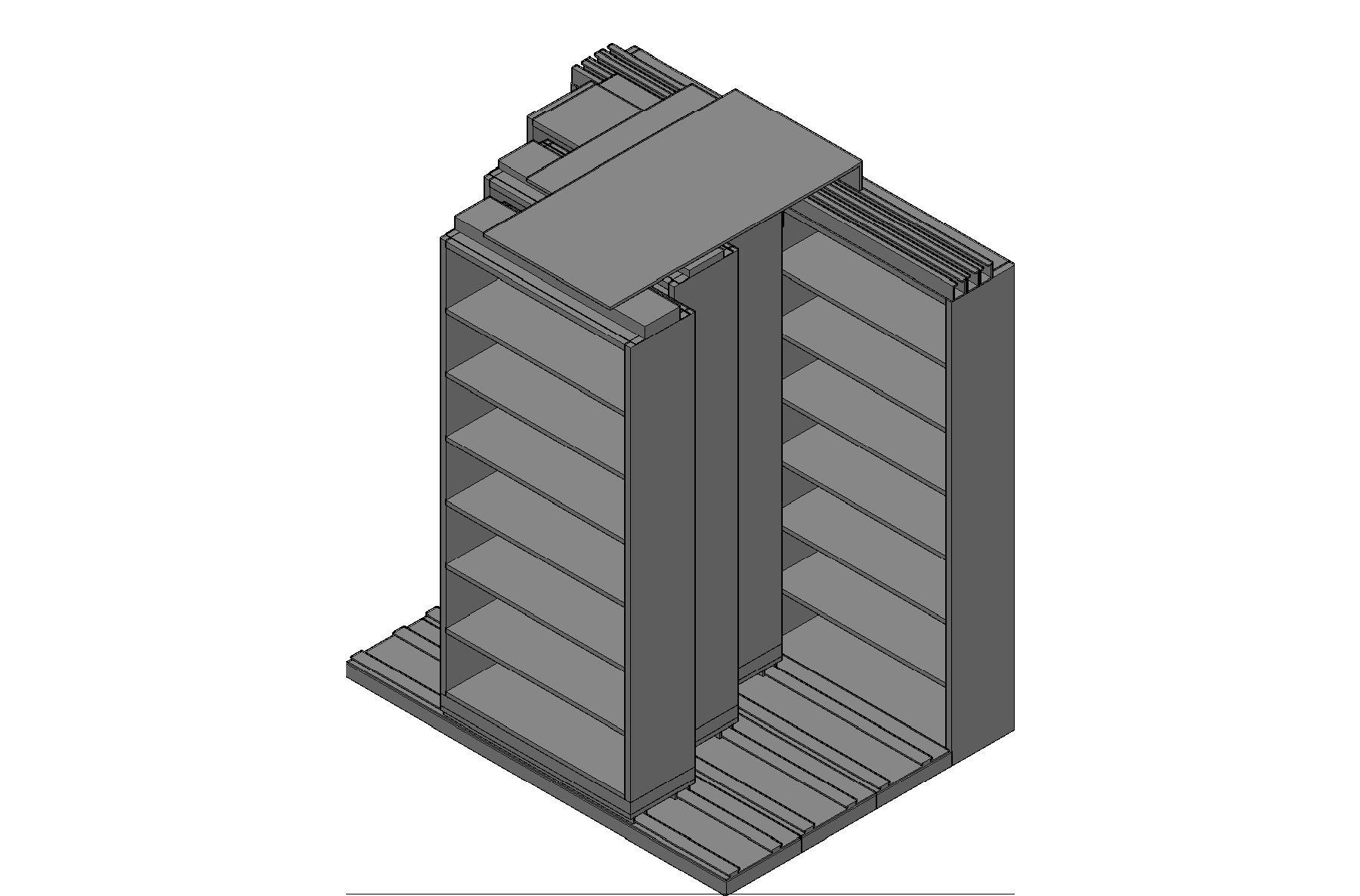"Letter Size Sliding Shelves - 4 Rows Deep - 7 Levels - (36"" x 12"" Shelves) - 76"" Total Width"