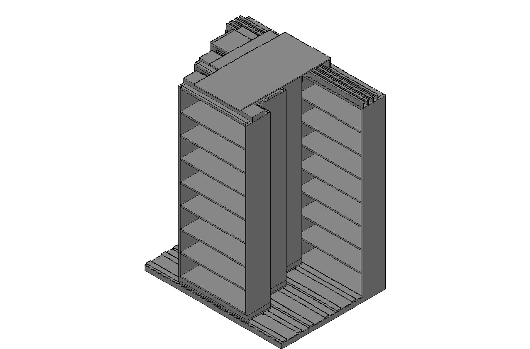 "Letter Size Sliding Shelves - 4 Rows Deep - 8 Levels - (36"" x 12"" Shelves) - 76"" Total Width"