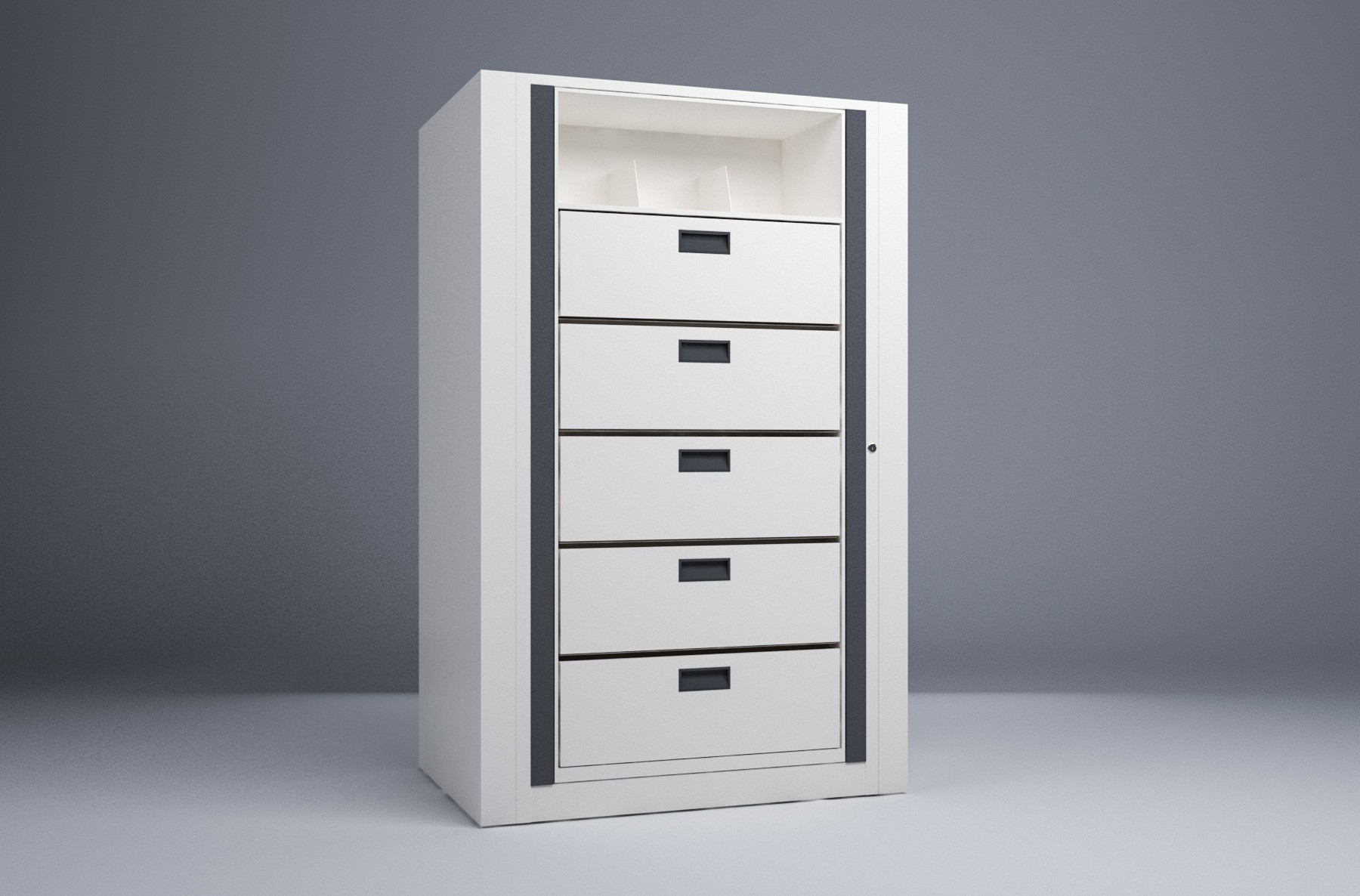 Rotary File-Legal-1 Starter 6 Tier-Drawers
