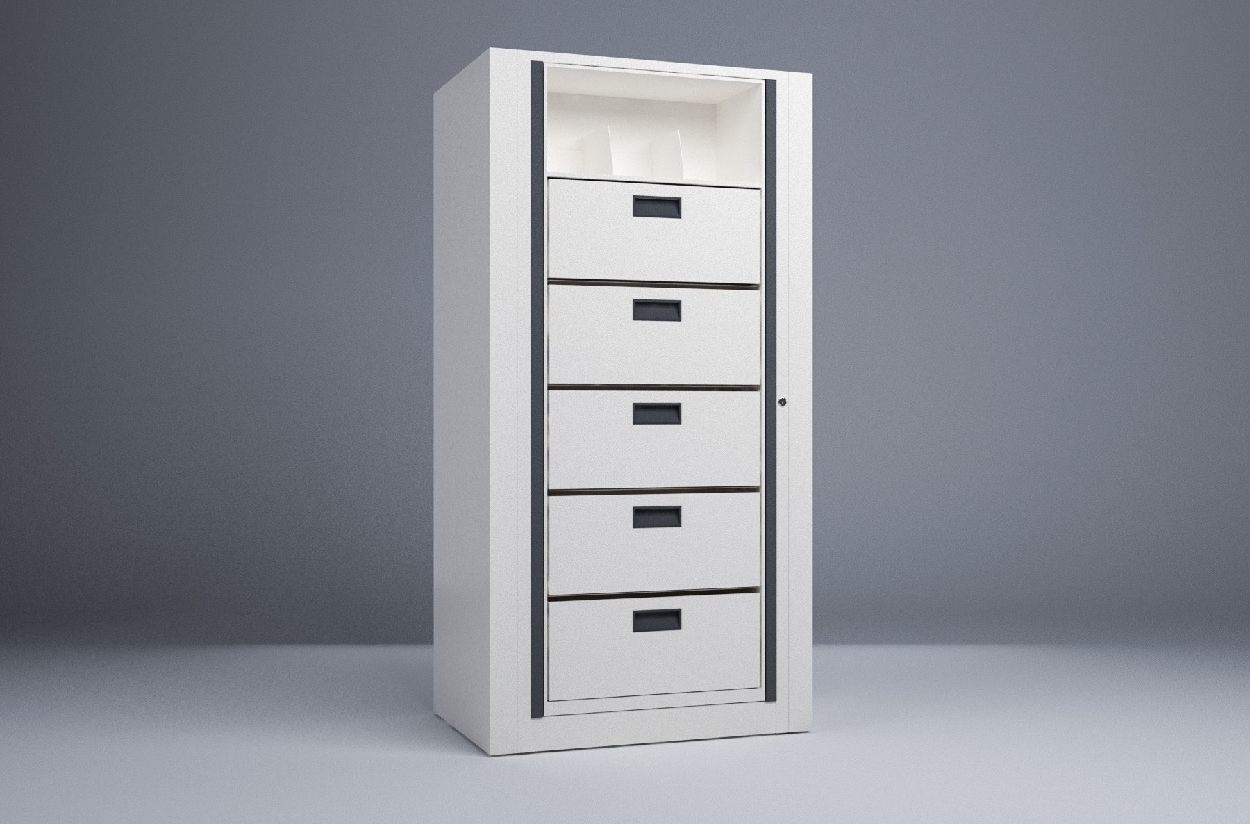 Rotary File-Letter-1 Starter 6 Tier-Drawers