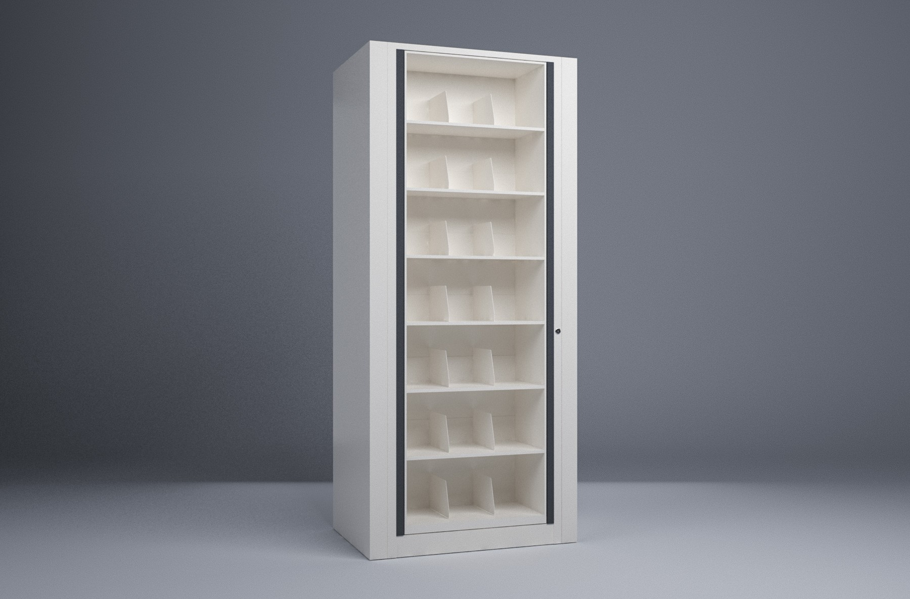 Rotary File-Letter-1 Starter 7 Tier-Shelves