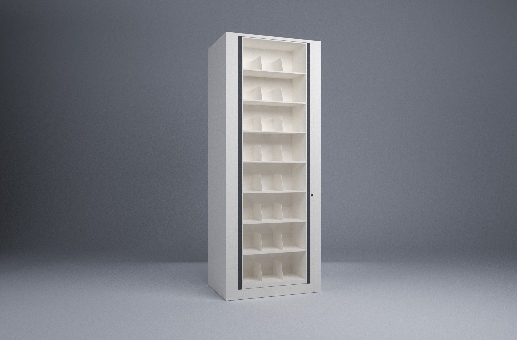 Rotary File-Letter-1 Starter 8 Tier-Shelves