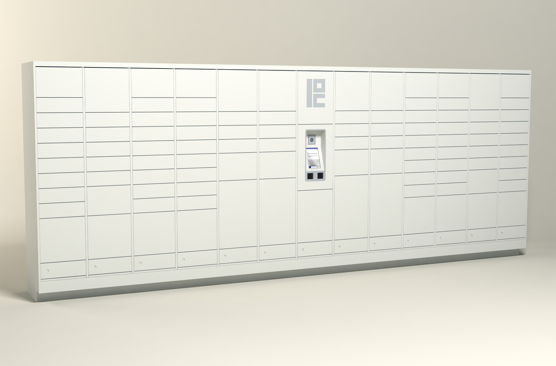 350 Unit - 102 Total Openings - Steel Smart Locker