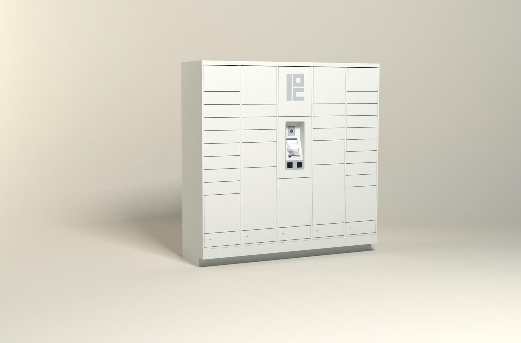 100 Unit - 34 Total Openings - Steel Smart Locker