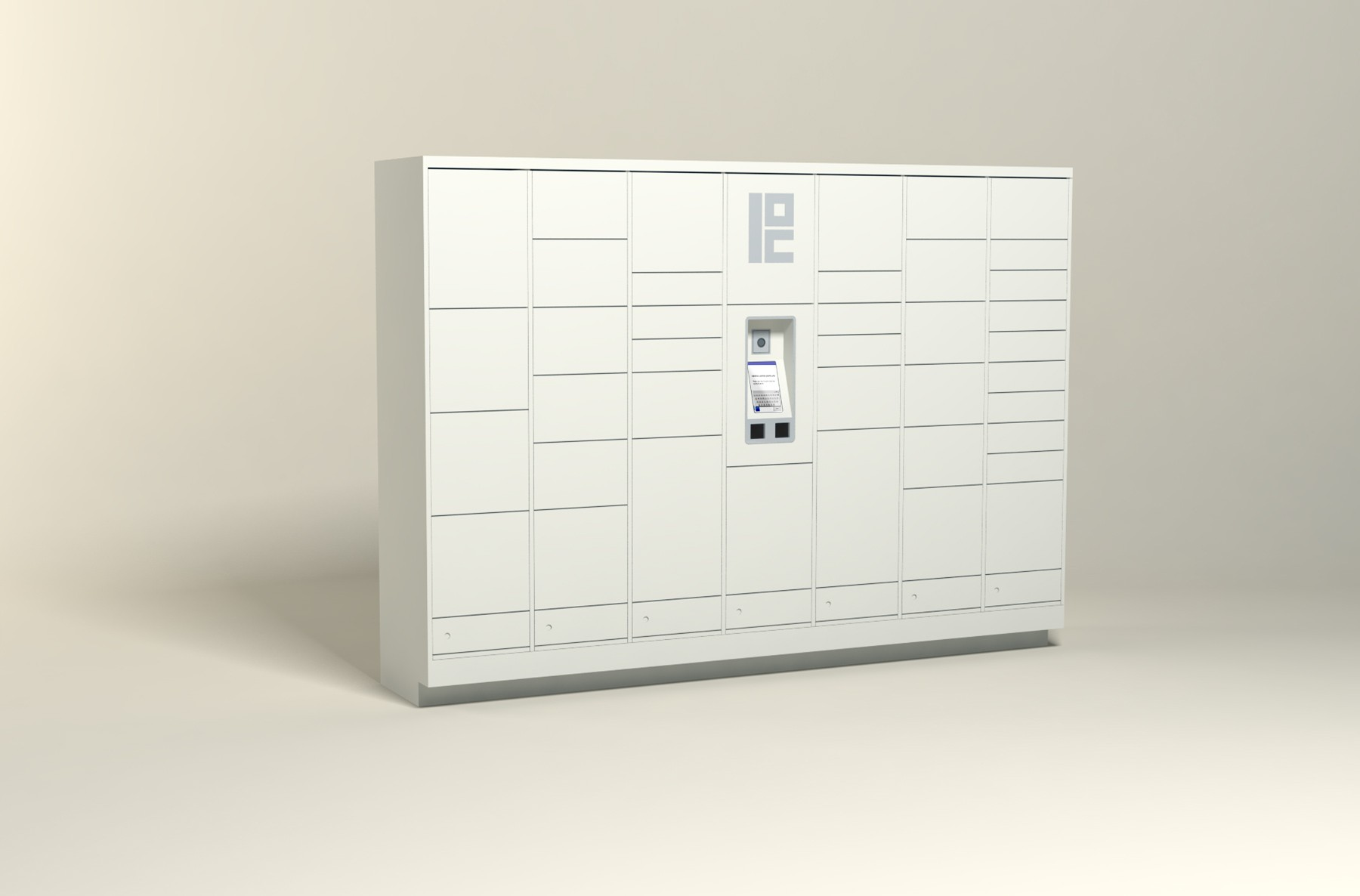 125 Unit - 40 Total Openings - Steel Smart Locker
