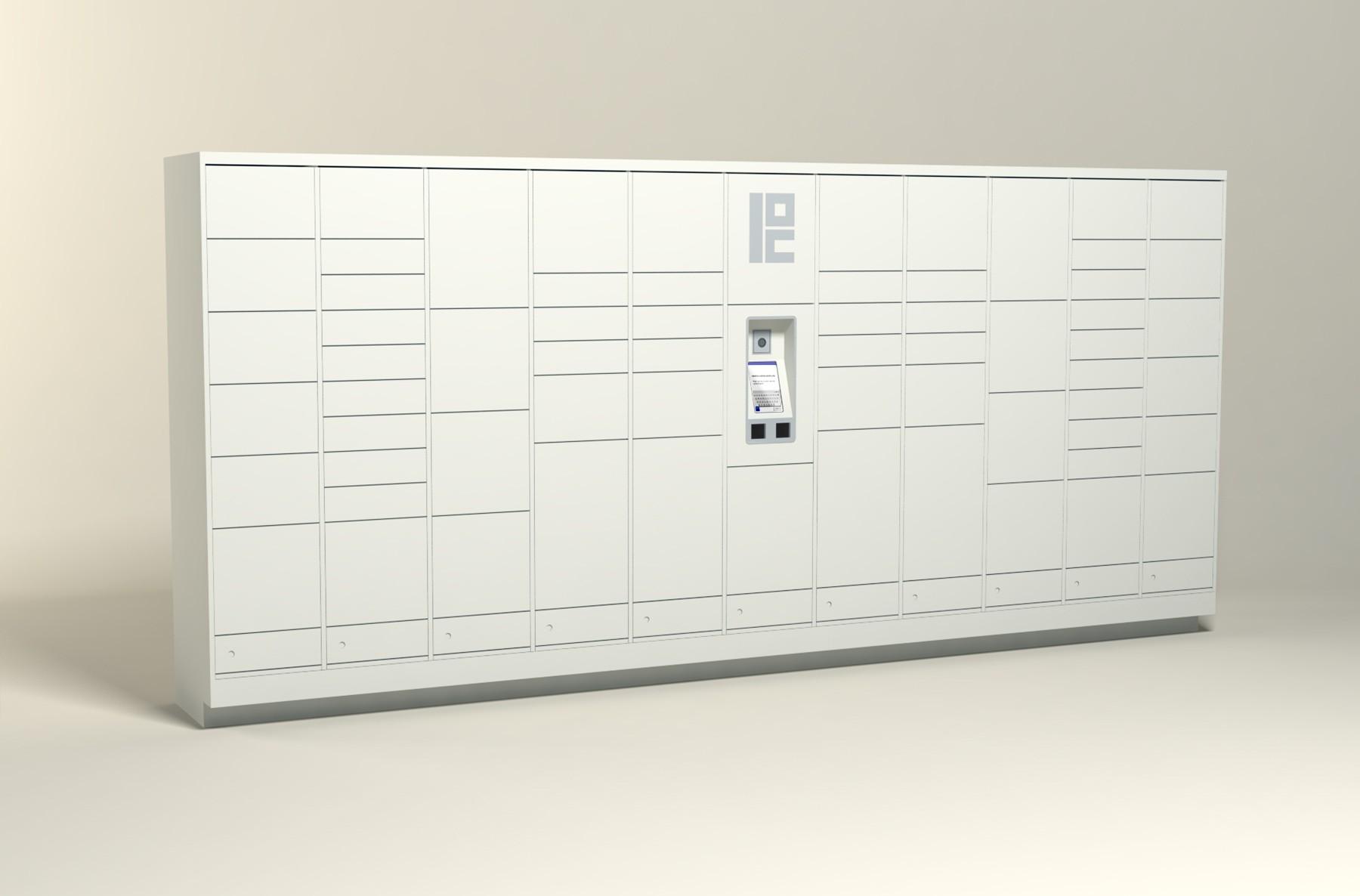 225 Unit - 66 Total Openings - Steel Smart Locker