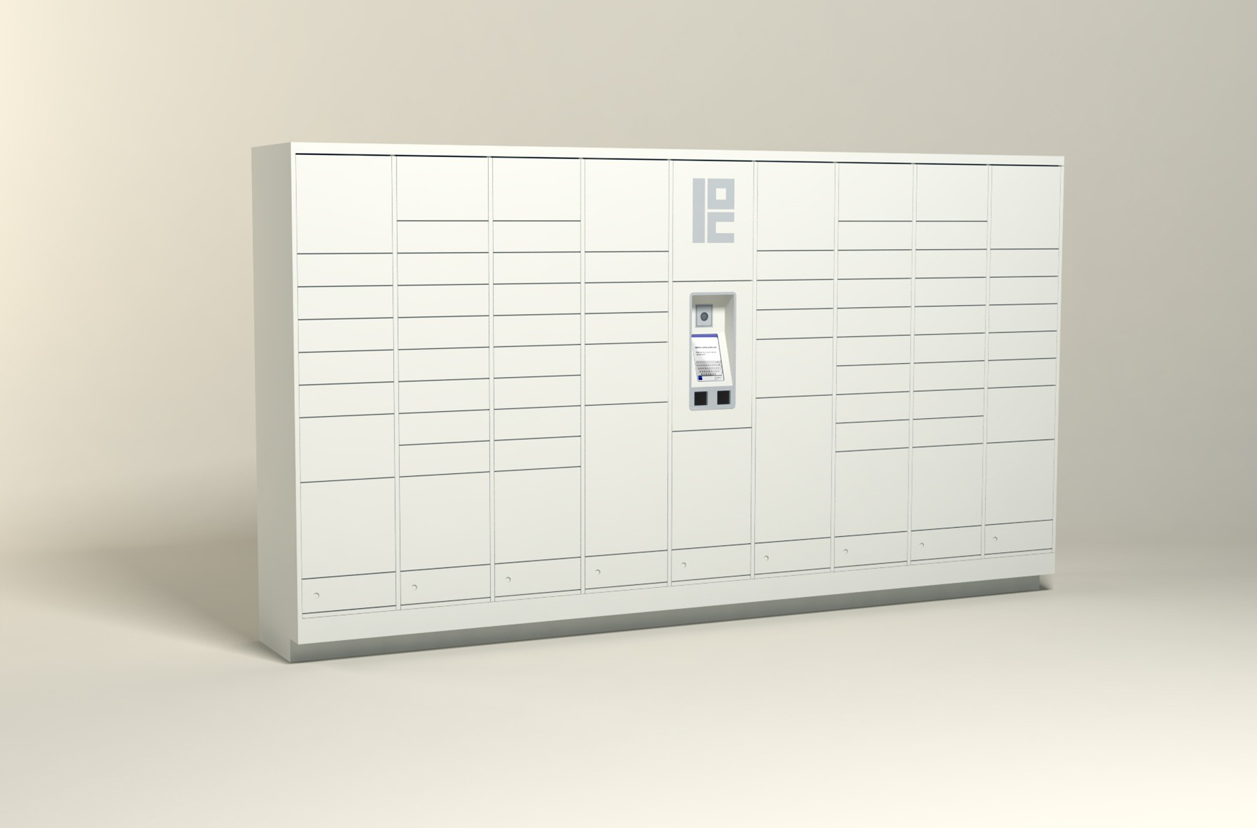 250 Unit - 70 Total Openings - Steel Smart Locker