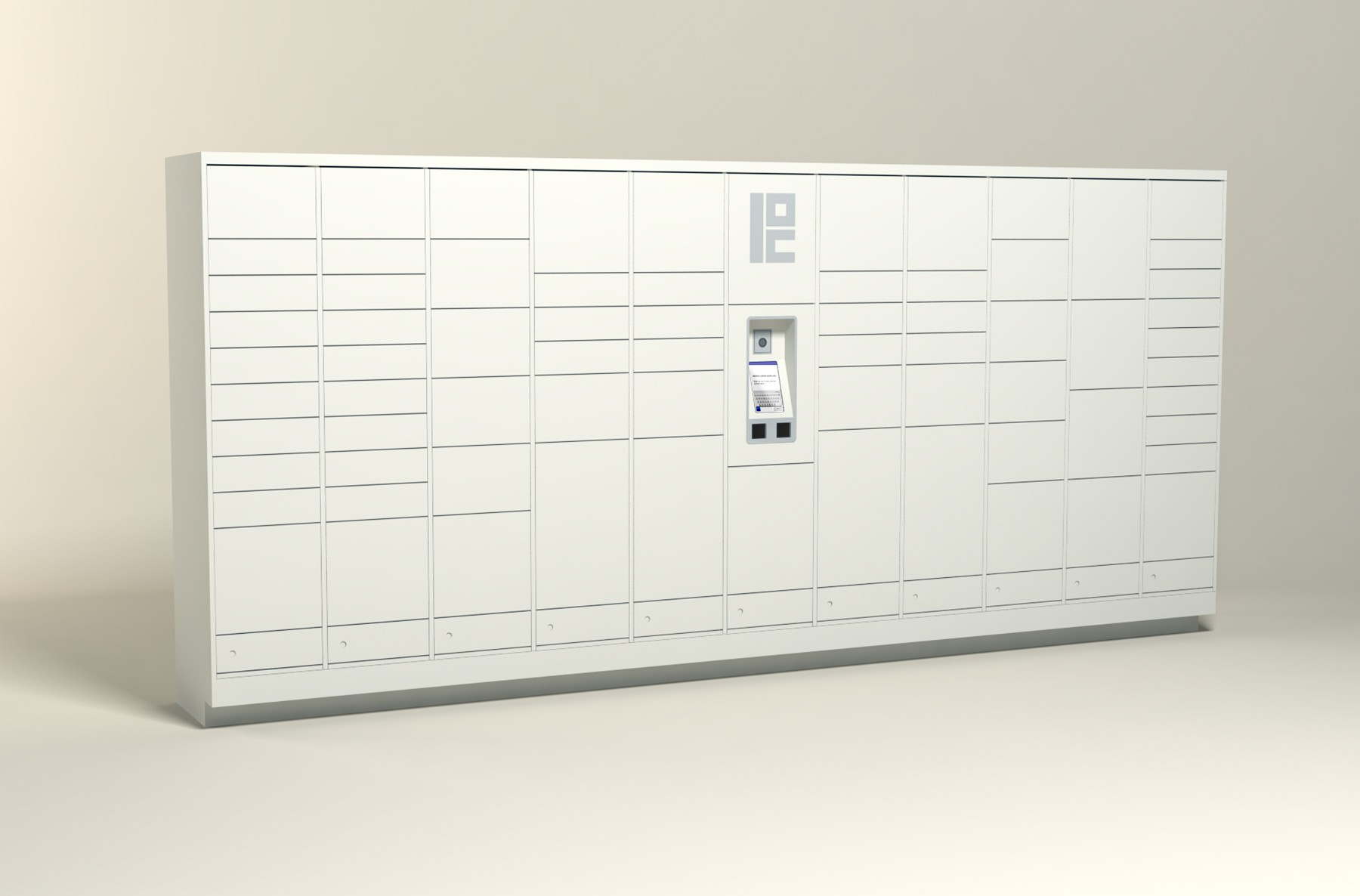 250 Unit - 72 Total Openings - Steel Smart Locker