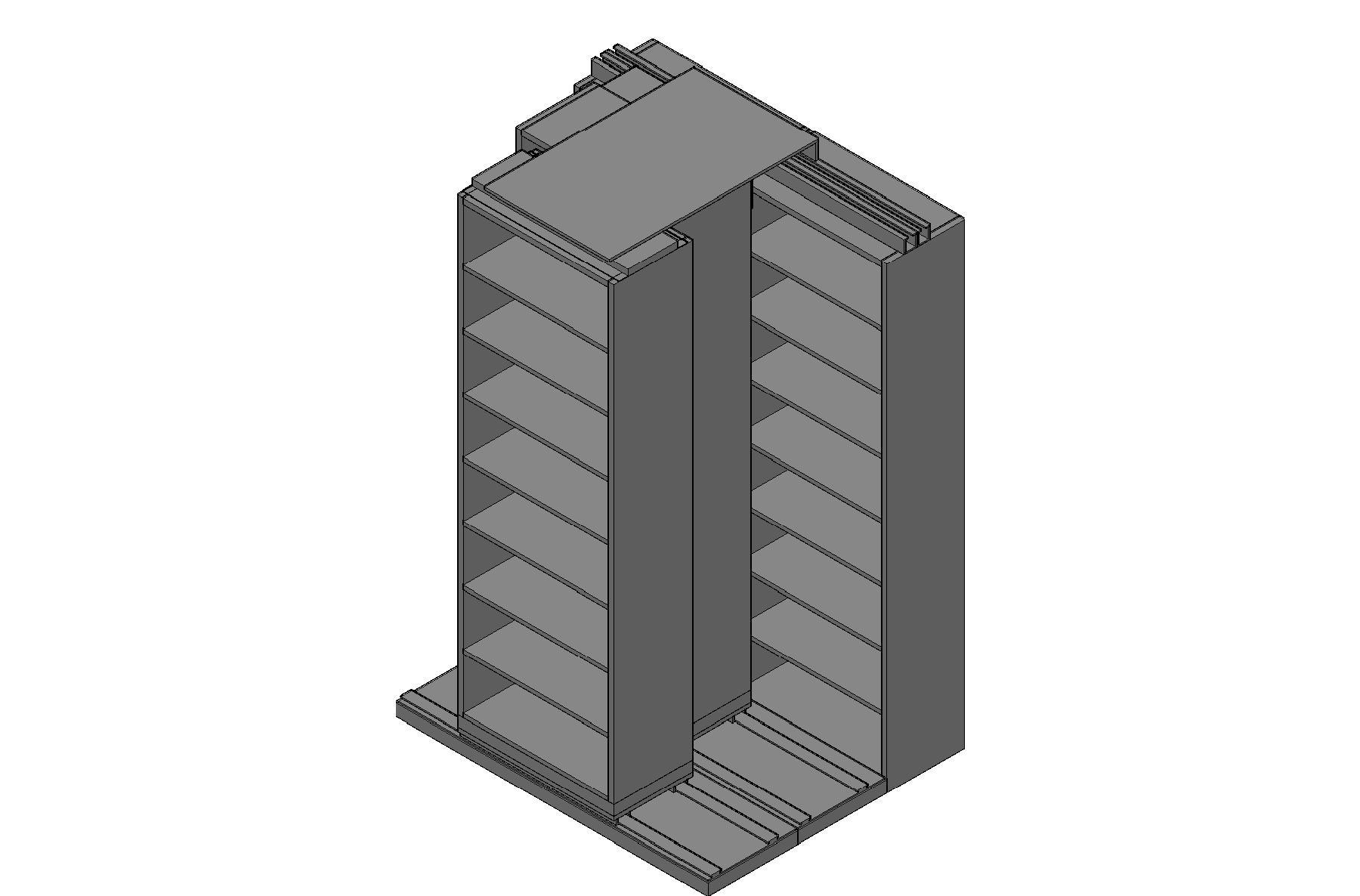 "Legal Size Sliding Shelves - 3 Rows Deep - 8 Levels - (30"" x 15"" Shelves) - 64"" Total Width"