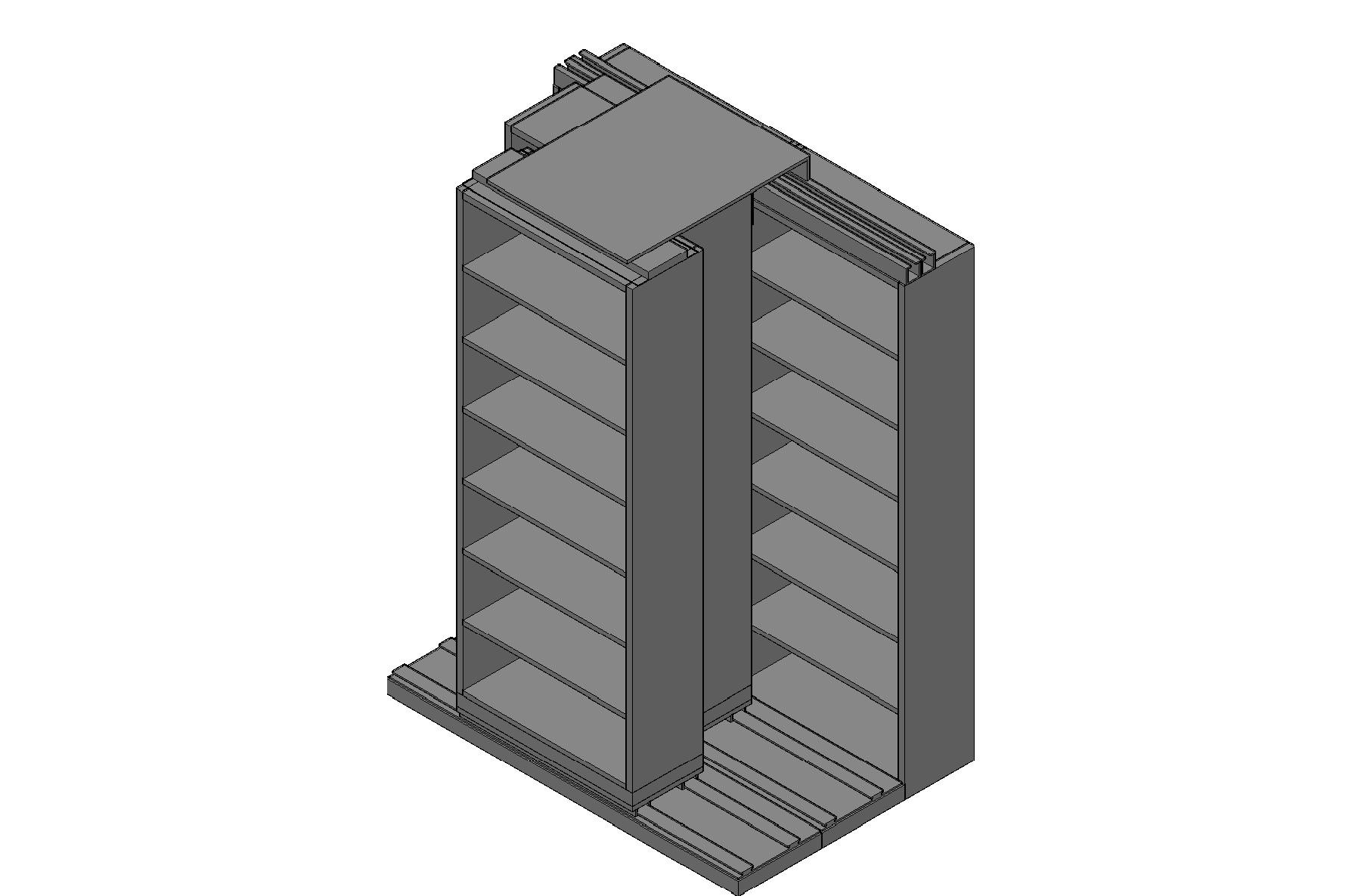 "Letter Size Sliding Shelves - 3 Rows Deep - 7 Levels - (30"" x 12"" Shelves) - 64"" Total Width"