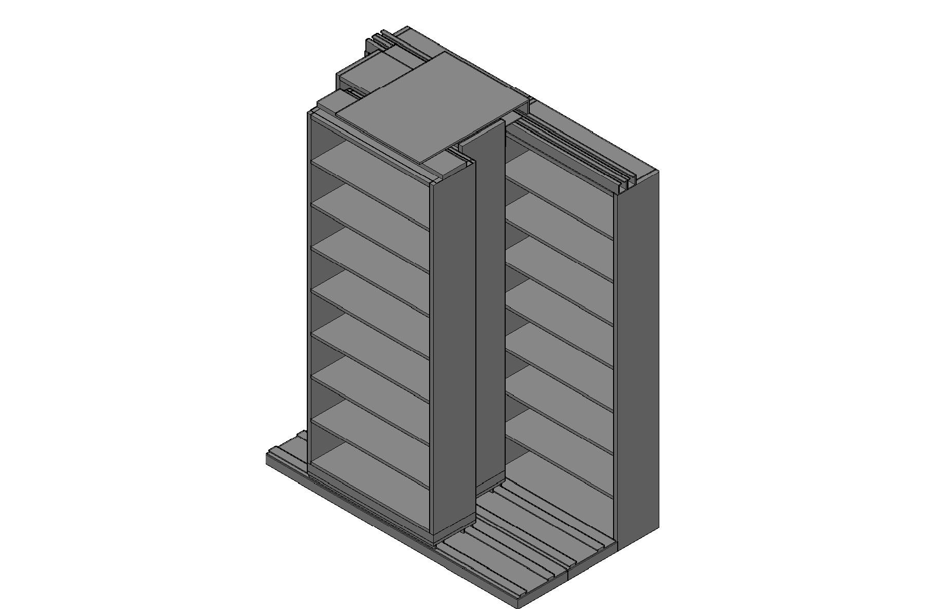 "Letter Size Sliding Shelves - 3 Rows Deep - 8 Levels - (36"" x 12"" Shelves) - 76"" Total Width"