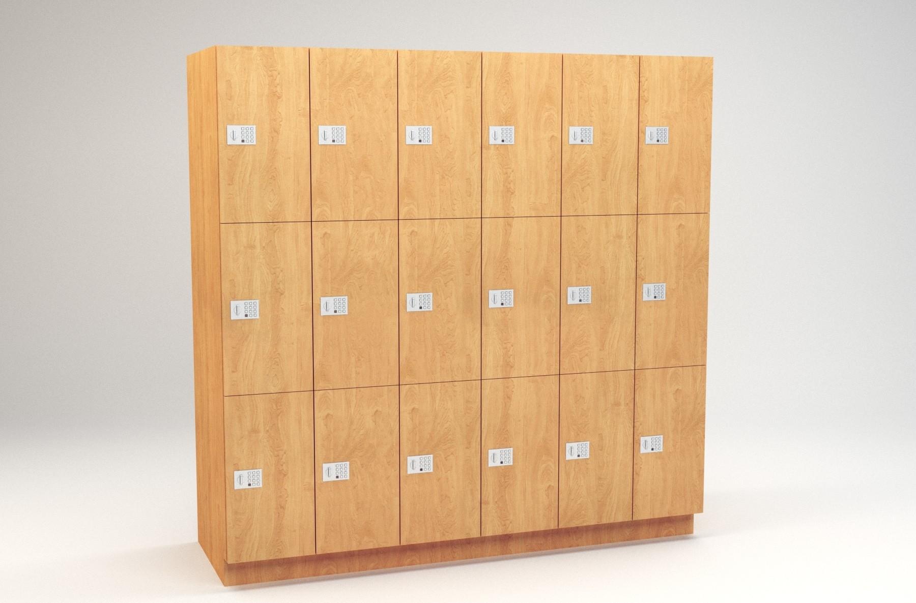 "3 Tier - 12""W x 24""D Column Laminate Day Lockers"