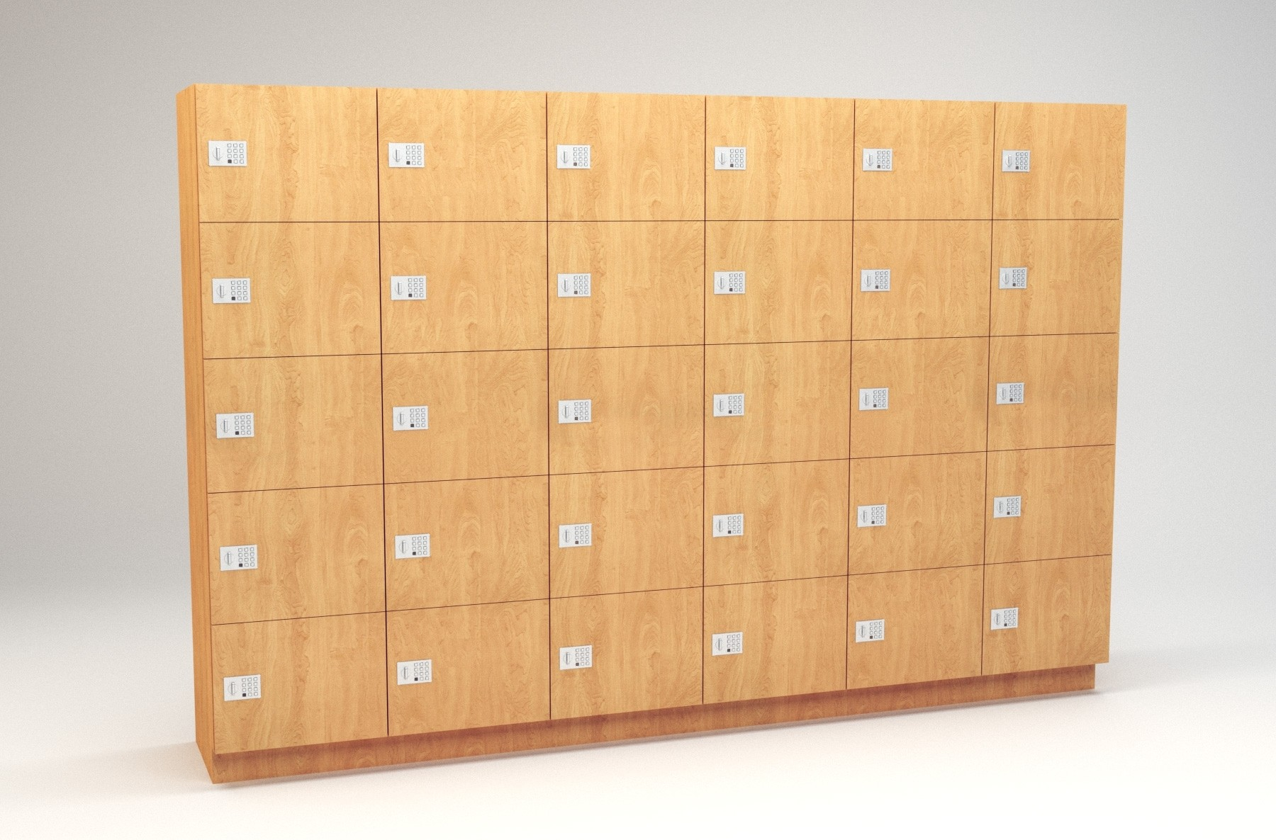 "5 Tier - 18""W x 18""D Column Laminate Day Lockers"