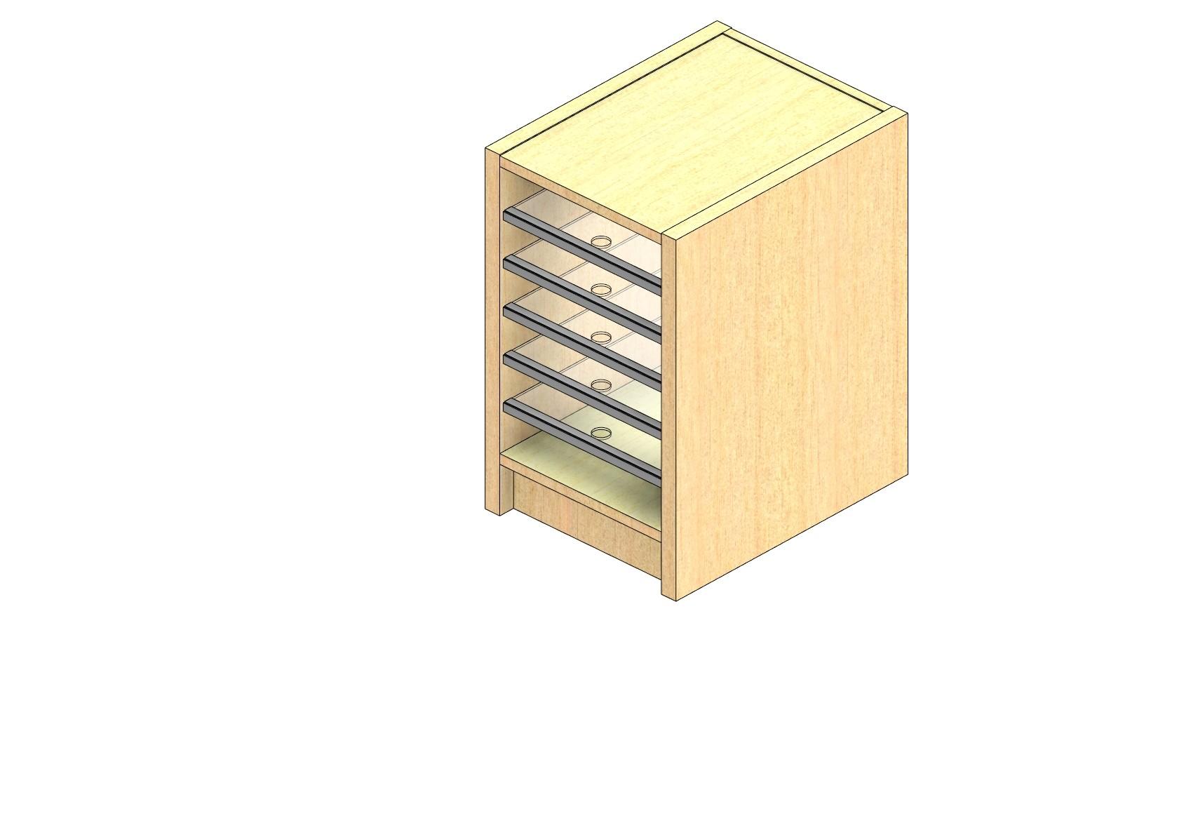 "Legal Sized Plexi Back Sort Module - 1 Column - 18"" Sorting Height w/ 3"" Riser"