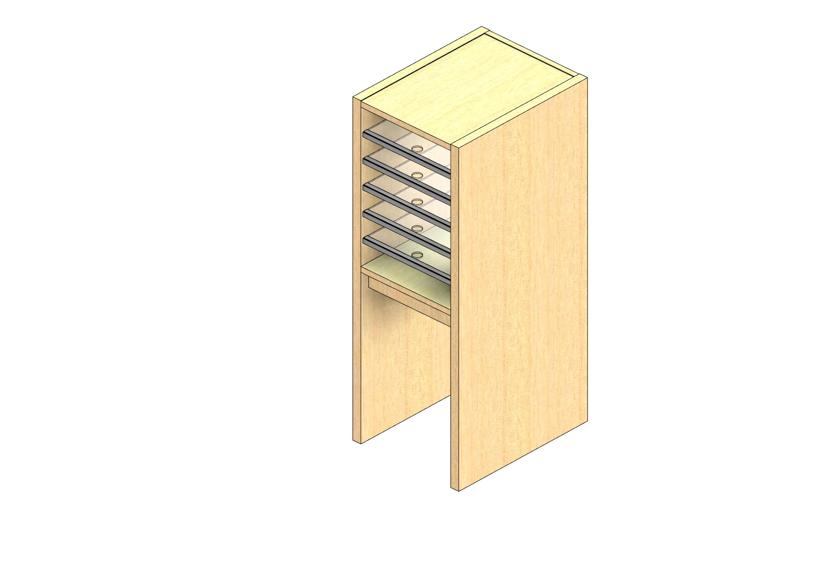"Legal Sized Plexi Back Sort Module - 1 Column - 18"" Sorting Height w/ 18"" Riser"