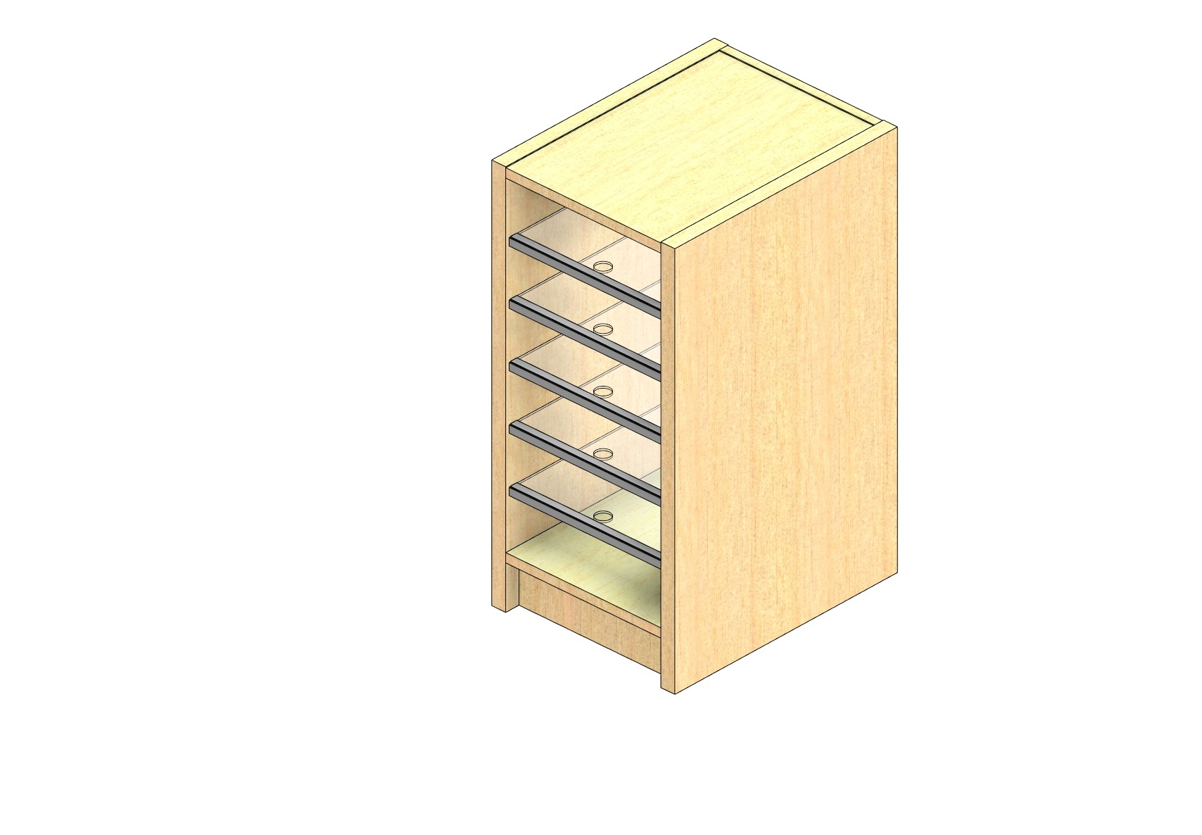 "Legal Sized Closed Back Sort Module - 1 Column - 24"" Sorting Height w/ 3"" Riser"