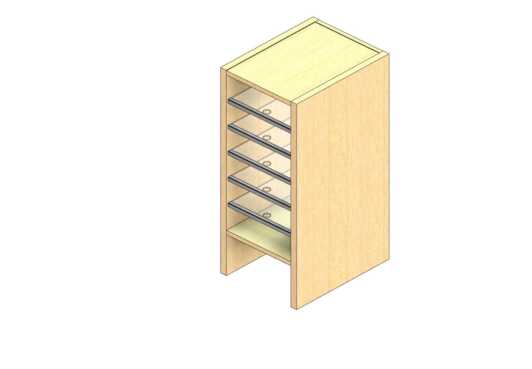 "Legal Sized Open Back Sort Module - 1 Column - 24"" Sorting Height w/ 6"" Riser"