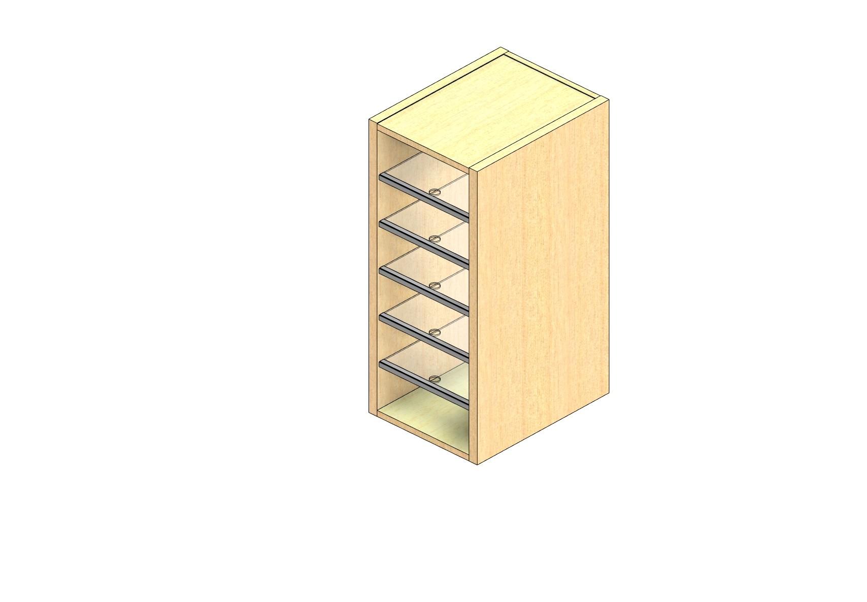 "Legal Sized Plexi Back Sort Module - 1 Column - 30"" Sorting Height w/ No Riser"