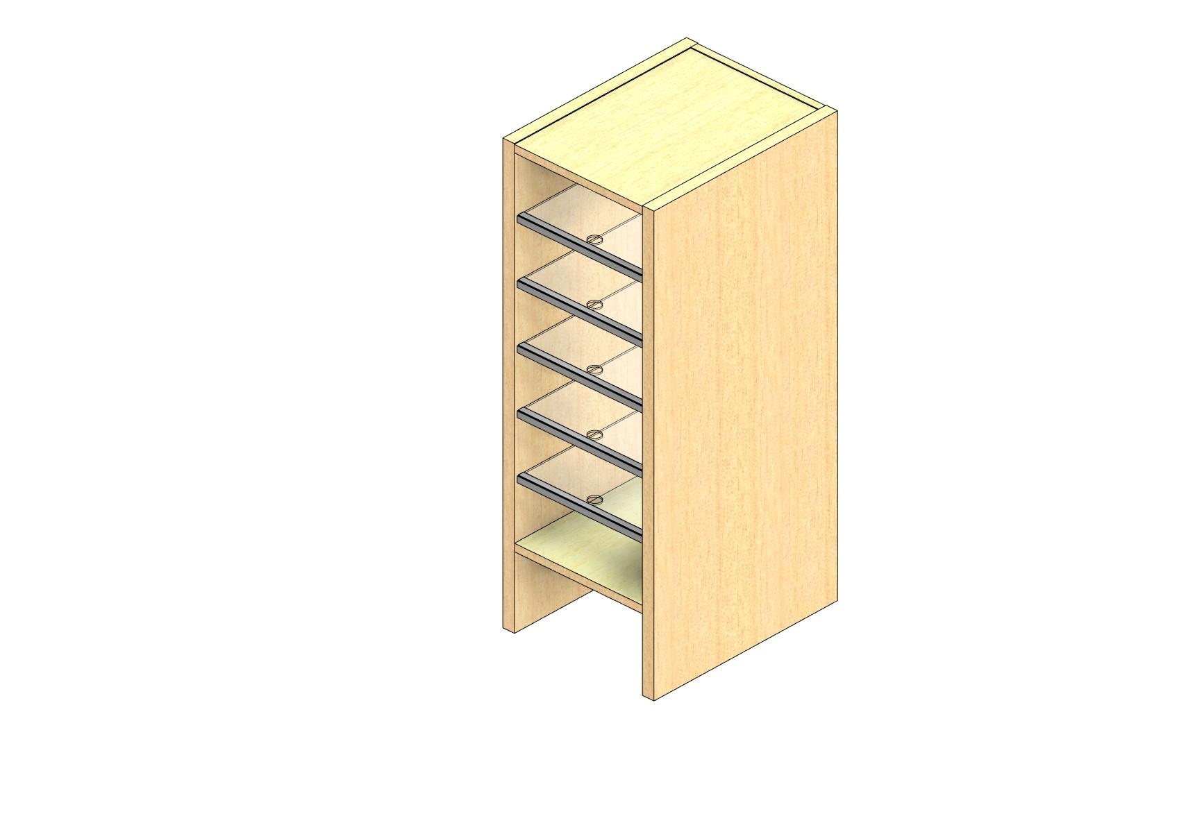 "Legal Sized Open Back Sort Module - 1 Column - 30"" Sorting Height w/ 6"" Riser"