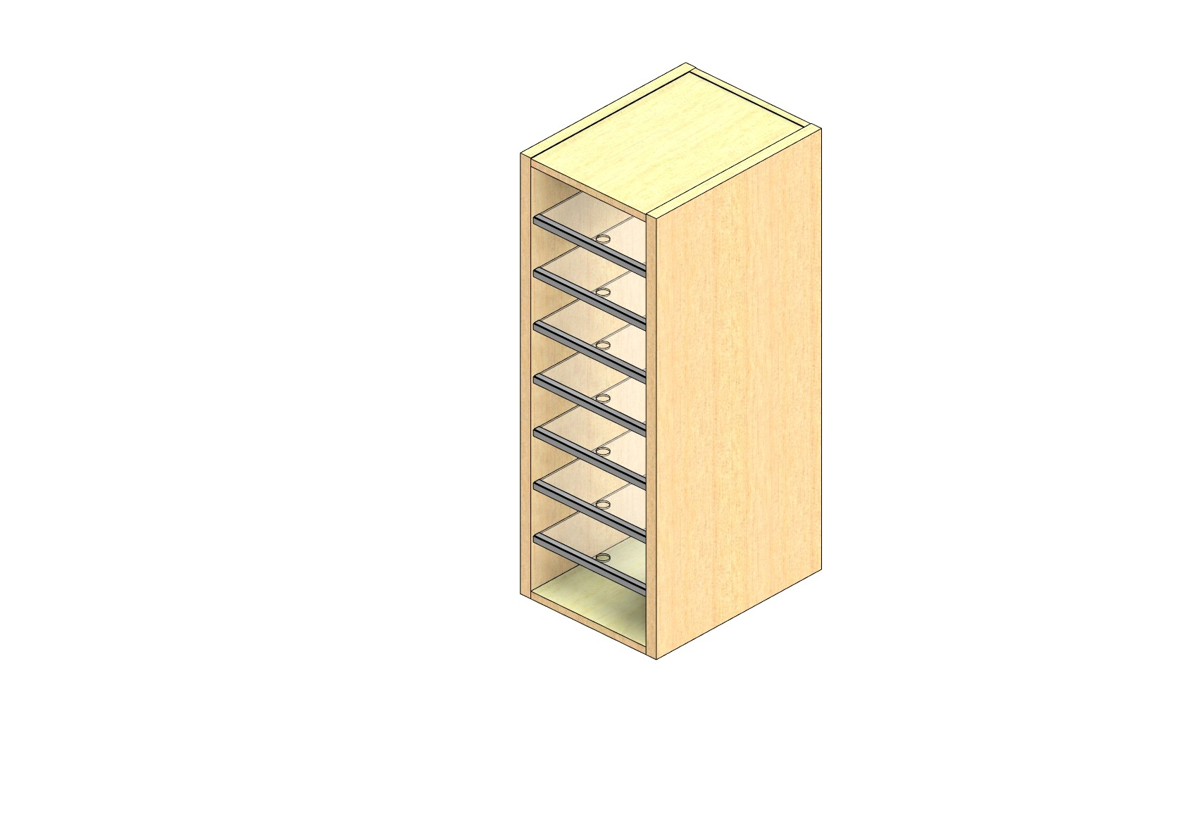 "Legal Sized Open Back Sort Module - 1 Column - 36"" Sorting Height w/ No Riser"