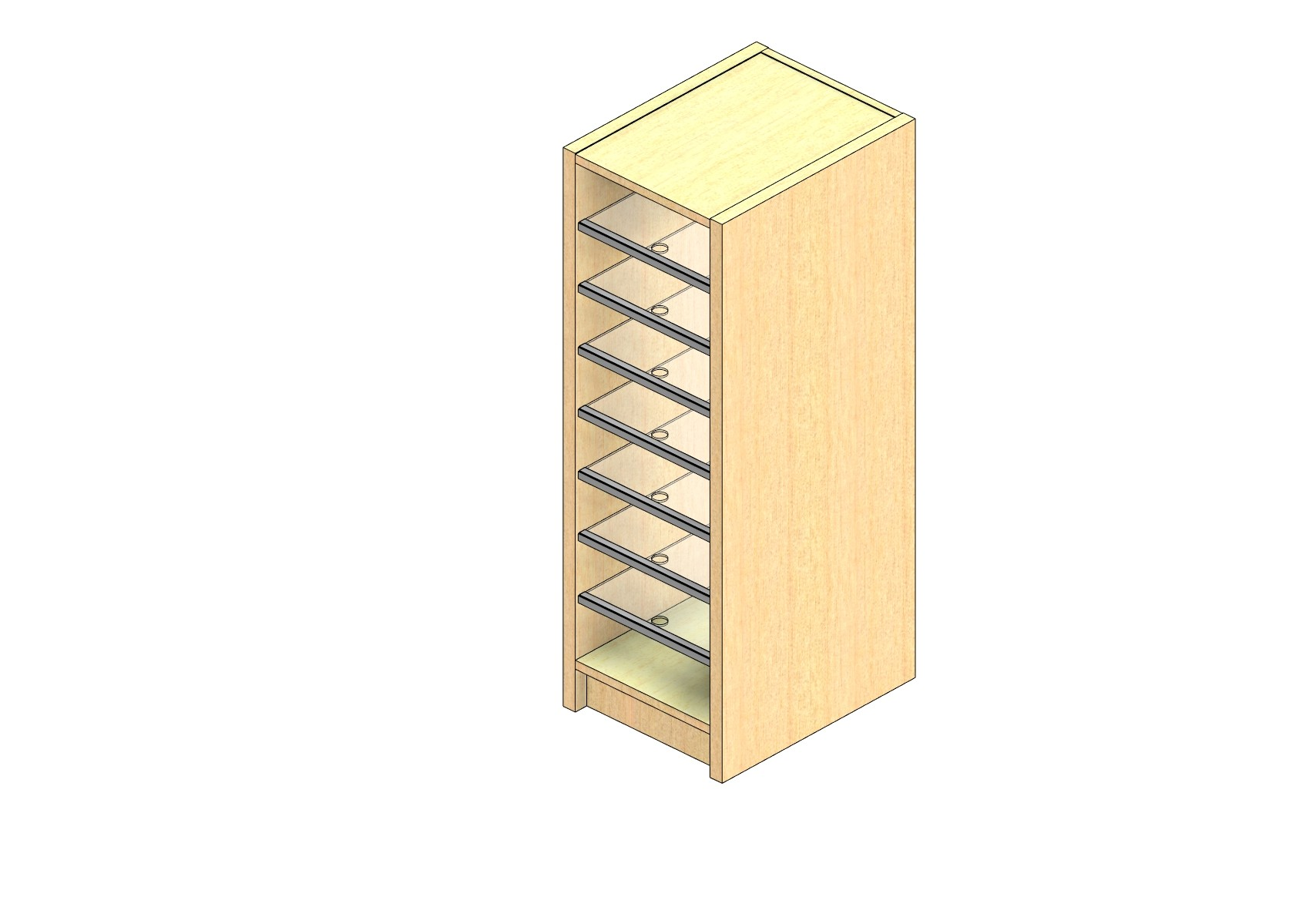 "Legal Sized Plexi Back Sort Module - 1 Column - 36"" Sorting Height w/ 3"" Riser"
