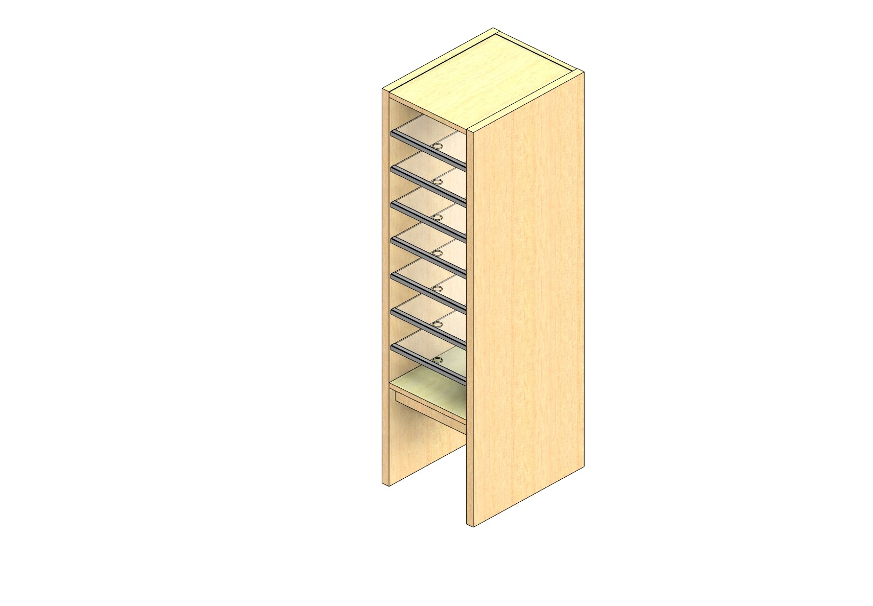 "Legal Sized Plexi Back Sort Module - 1 Column - 36"" Sorting Height w/ 12"" Riser"