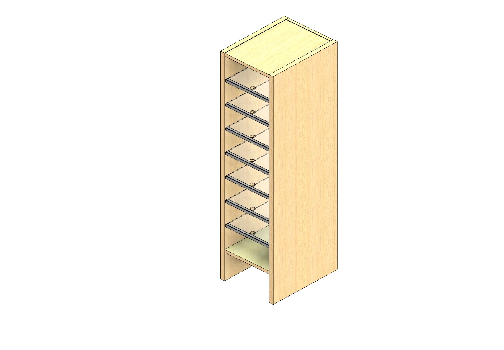 "Legal Sized Open Back Sort Module - 1 Column - 42"" Sorting Height w/ 6"" Riser"