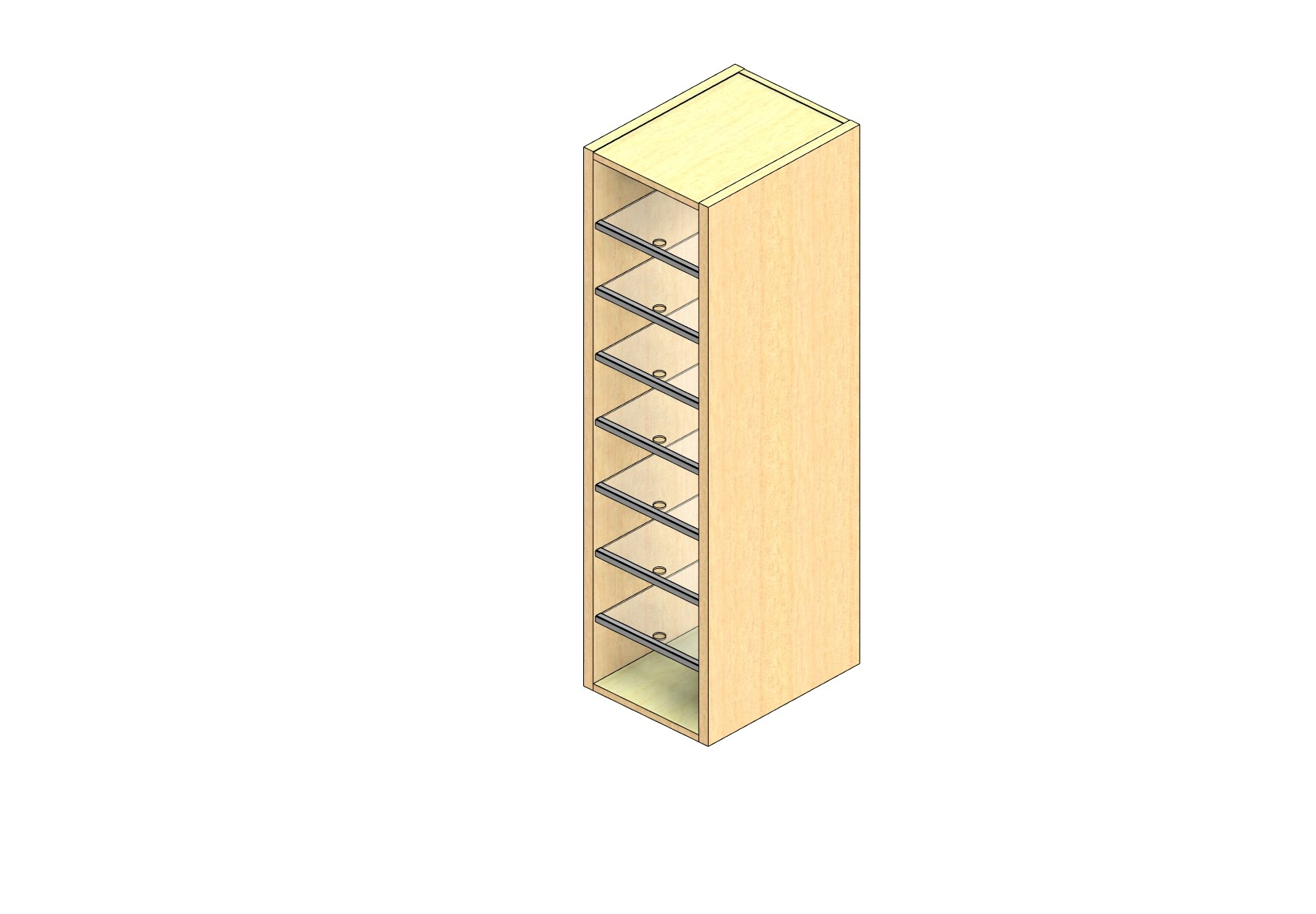 """Legal Sized Closed Back Sort Module - 1 Column - 48"""" Sorting Height w/ No Riser"""