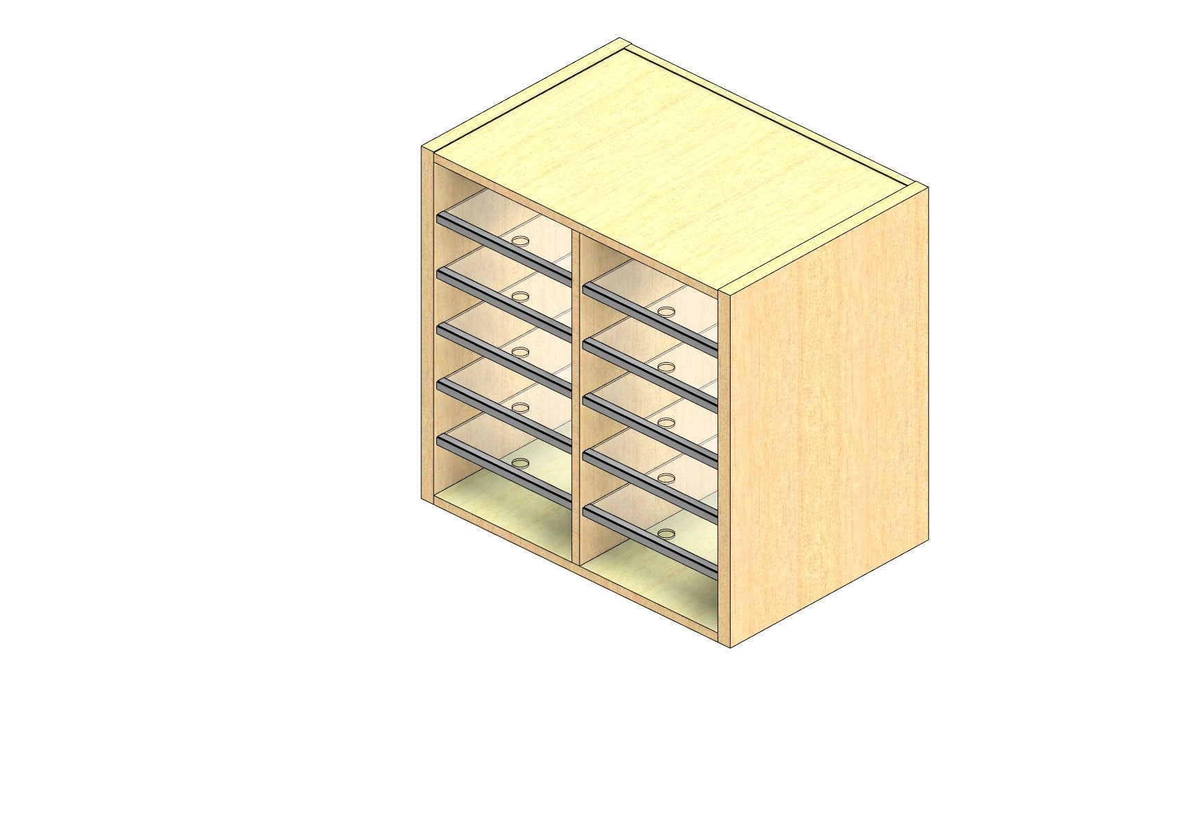 """Legal Sized Closed Back Sort Module - 2 Columns - 24"""" Sorting Height w/ No Riser"""