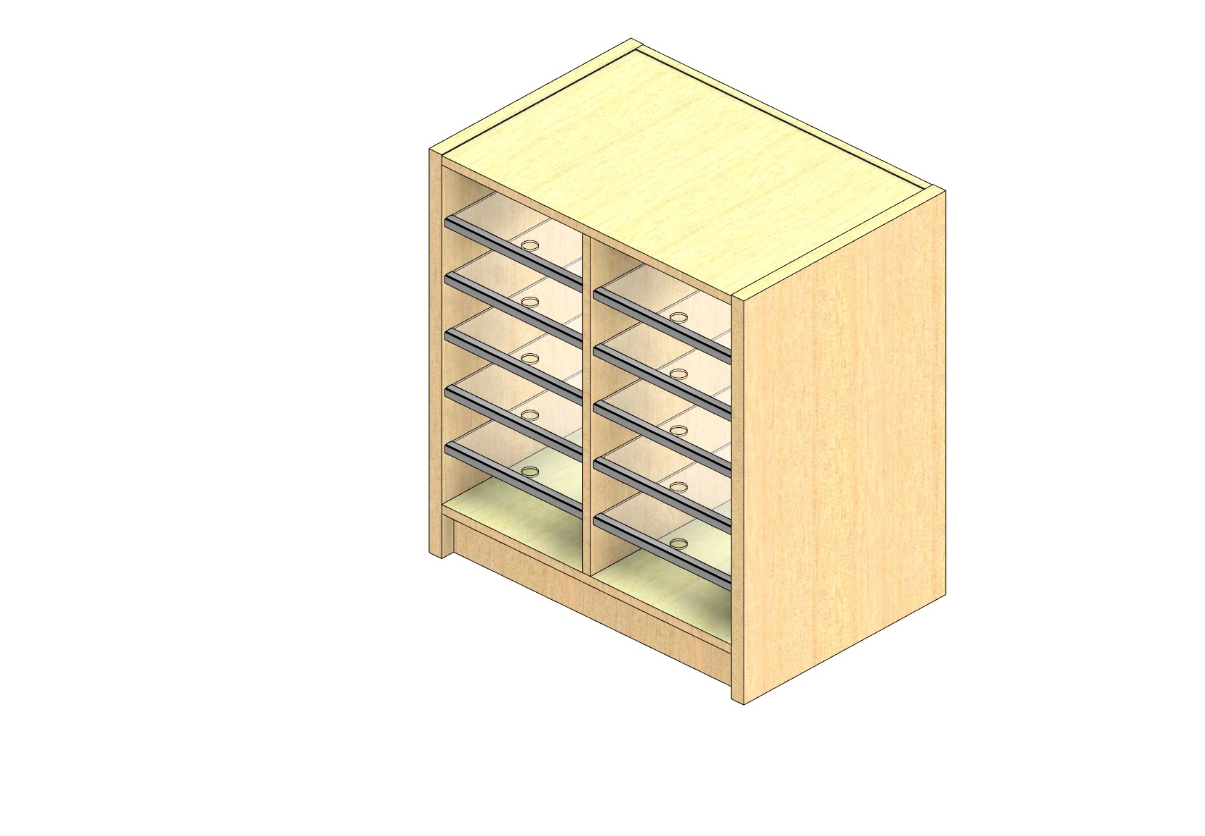 """Legal Sized Closed Back Sort Module - 2 Columns - 24"""" Sorting Height w/ 3"""" Riser"""