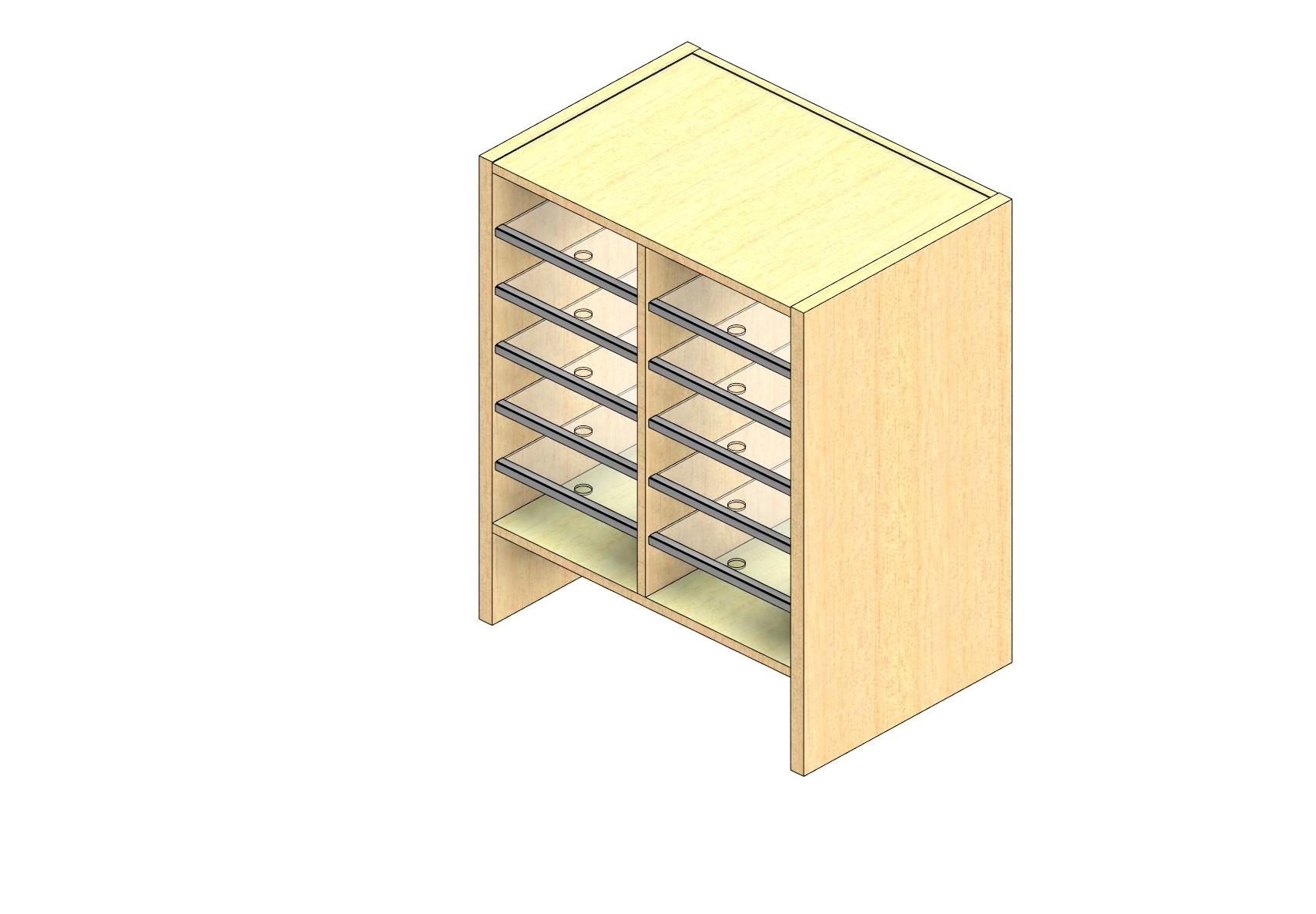 "Legal Sized Plexi Back Sort Module - 2 Columns - 24"" Sorting Height w/ 6"" Riser"